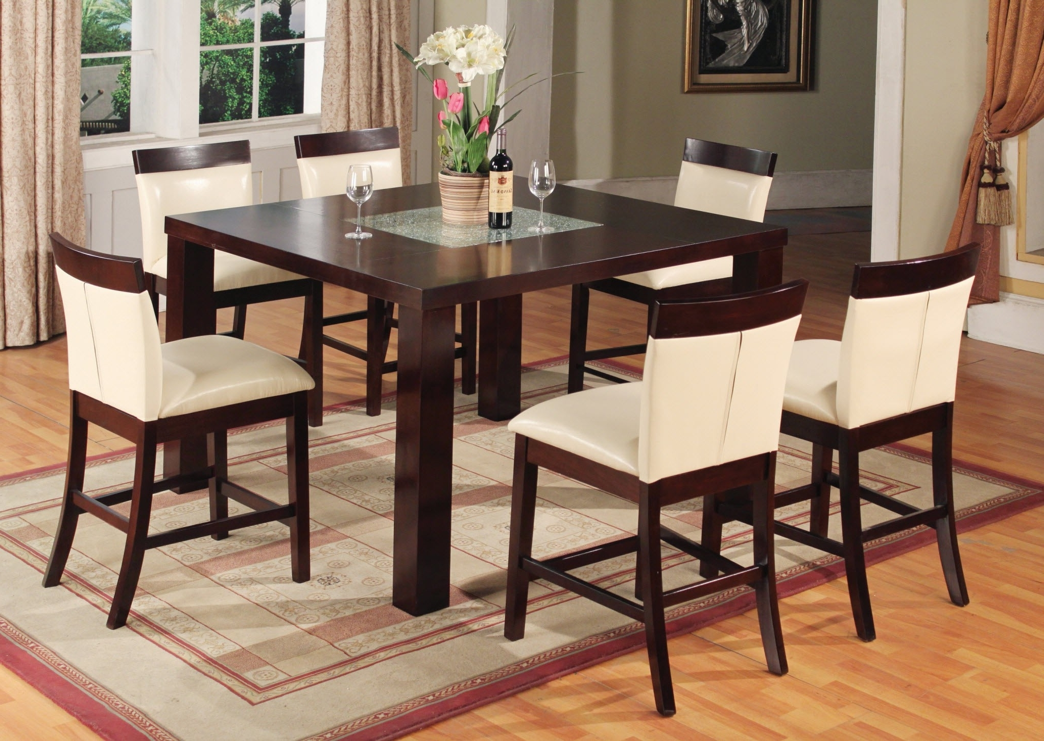 Most Recently Released Jaxon 6 Piece Rectangle Dining Sets With Bench & Uph Chairs For Countertop Dining Room Tables – Dining Room Design (View 18 of 25)