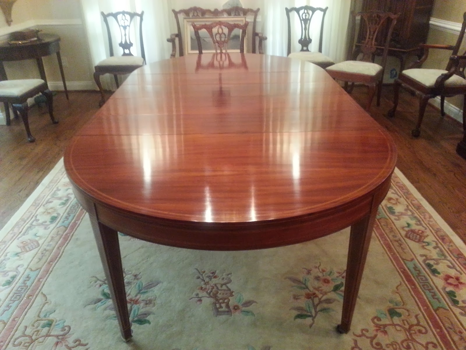 Most Recently Released John Mark Power, Antiques Conservator: Mahogany Dining Room Table Inside Mahogany Dining Tables And 4 Chairs (Gallery 7 of 25)