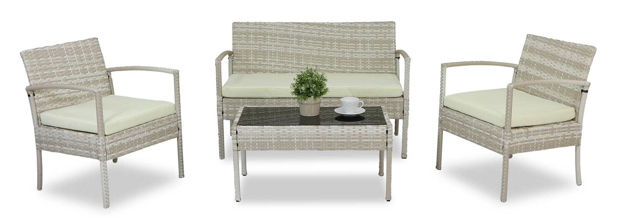 Most Recently Released Lazio Sofa Set (Cream) (View 17 of 25)
