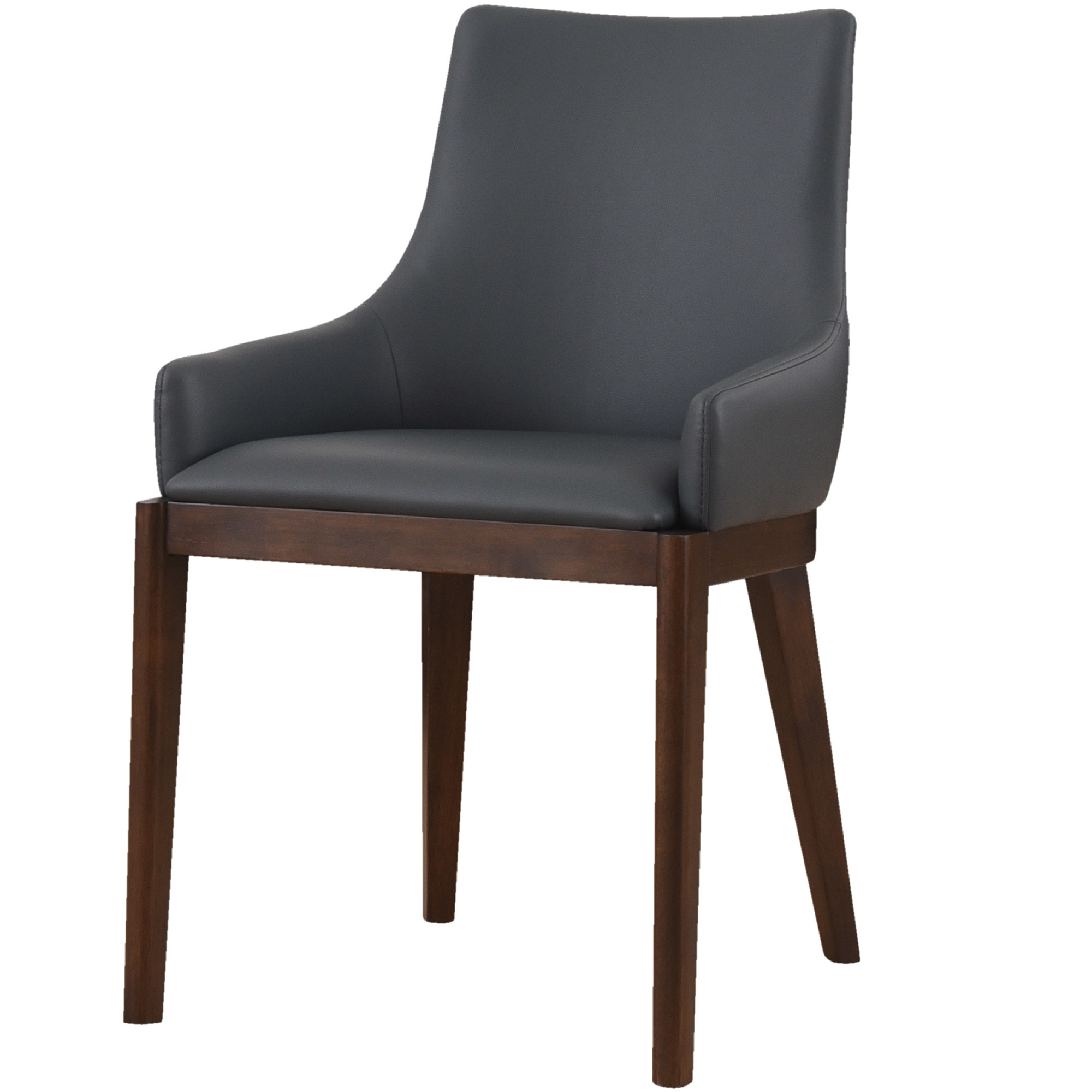 Most Recently Released Leather Dining Chairs For Malibu Faux Leather Dining Chair (View 24 of 25)
