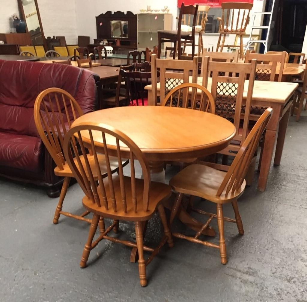 Most Recently Released Light Oak Colour Dining Table & 4 Chairs ** (View 13 of 25)