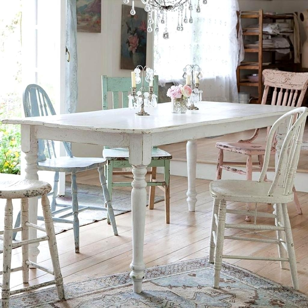 Most Recently Released Lovely Chic Dining Table Chairs Derbyshire Country Ideas Fabulous For Shabby Dining Tables And Chairs (View 13 of 25)