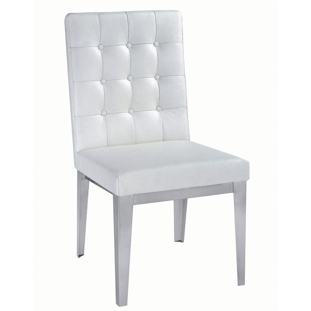 Most Recently Released Modern White Leather Dining Chairs (View 4 of 25)