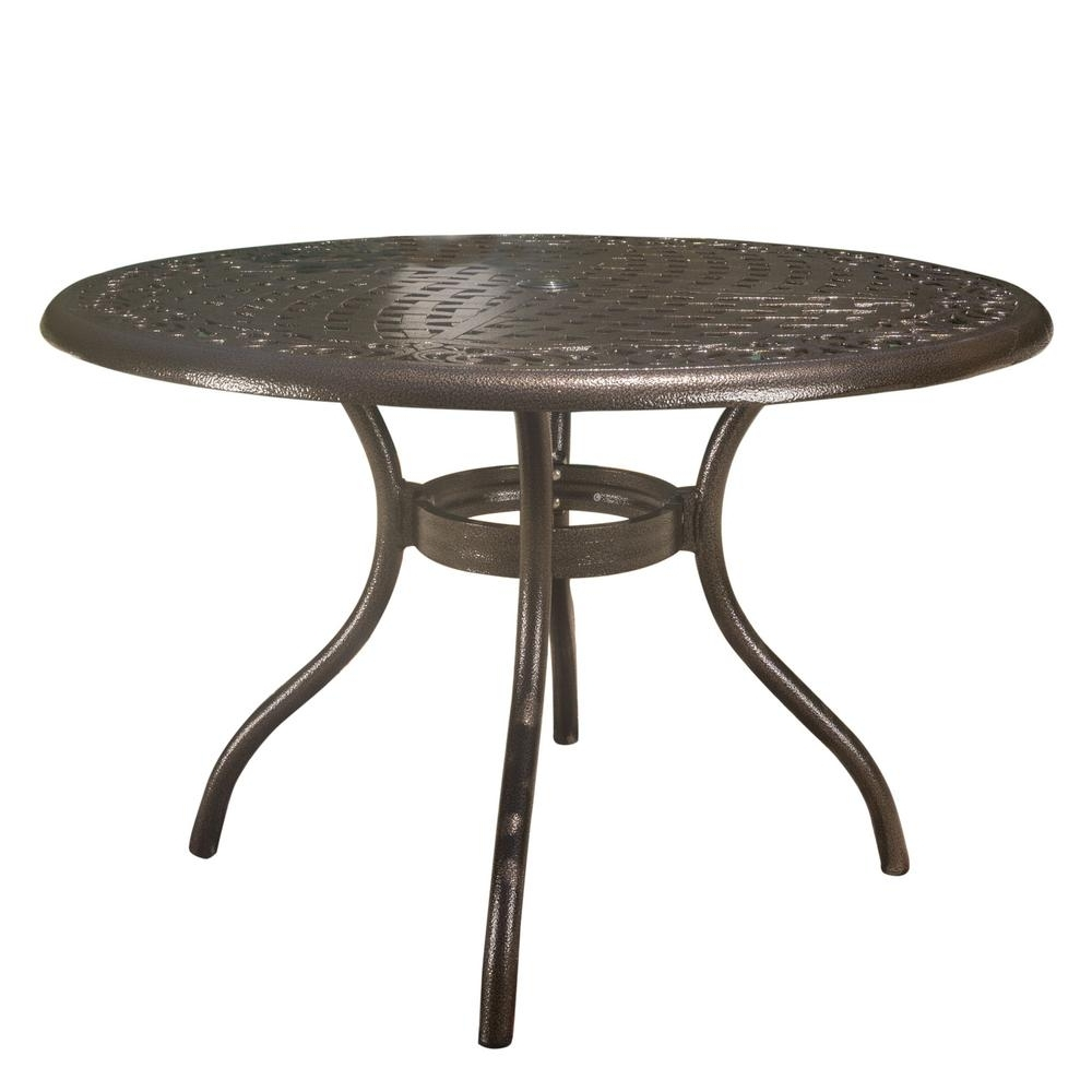 Most Recently Released Noble House Phoenix Hammered Bronze Round Aluminum Outdoor Dining Pertaining To Phoenix Dining Tables (View 13 of 25)