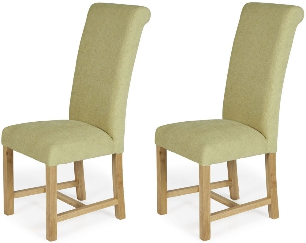 Most Recently Released Oak Fabric Dining Chairs Intended For Coker Oatmeal Plain Fabric Dining Chair With Oak Legs (Pair) (View 11 of 25)