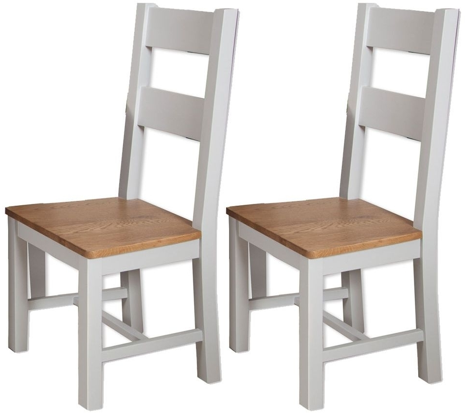 Most Recently Released Perth Dining Tables Inside Buy Perth Oak And Grey Painted Dining Chair (Pair) Online – Cfs Uk (View 21 of 25)