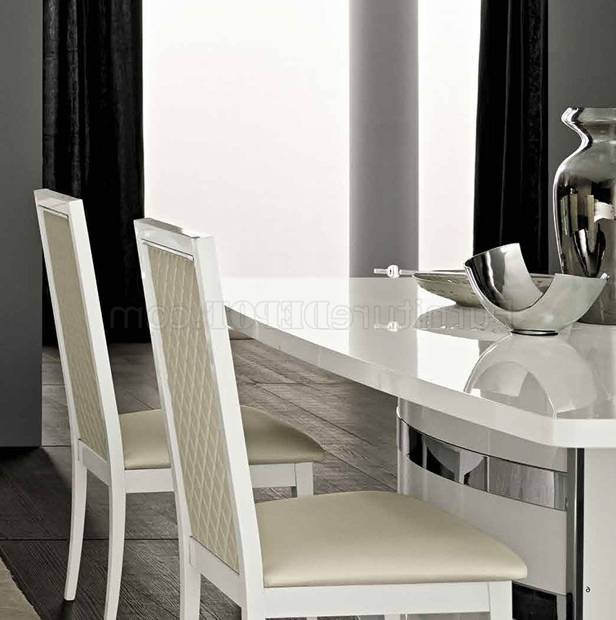 Most Recently Released Roma Dining Table In White High Glossesf W/options Inside Roma Dining Tables (View 9 of 25)