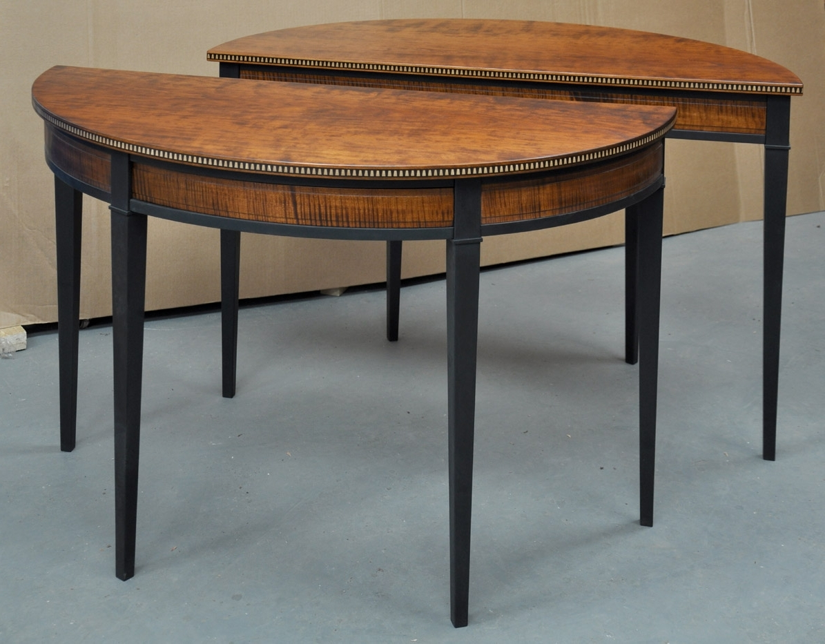 Most Recently Released Round Half Moon Dining Tables For Dining Tables: Outstanding Half Round Dining Table Half Circle (View 3 of 25)