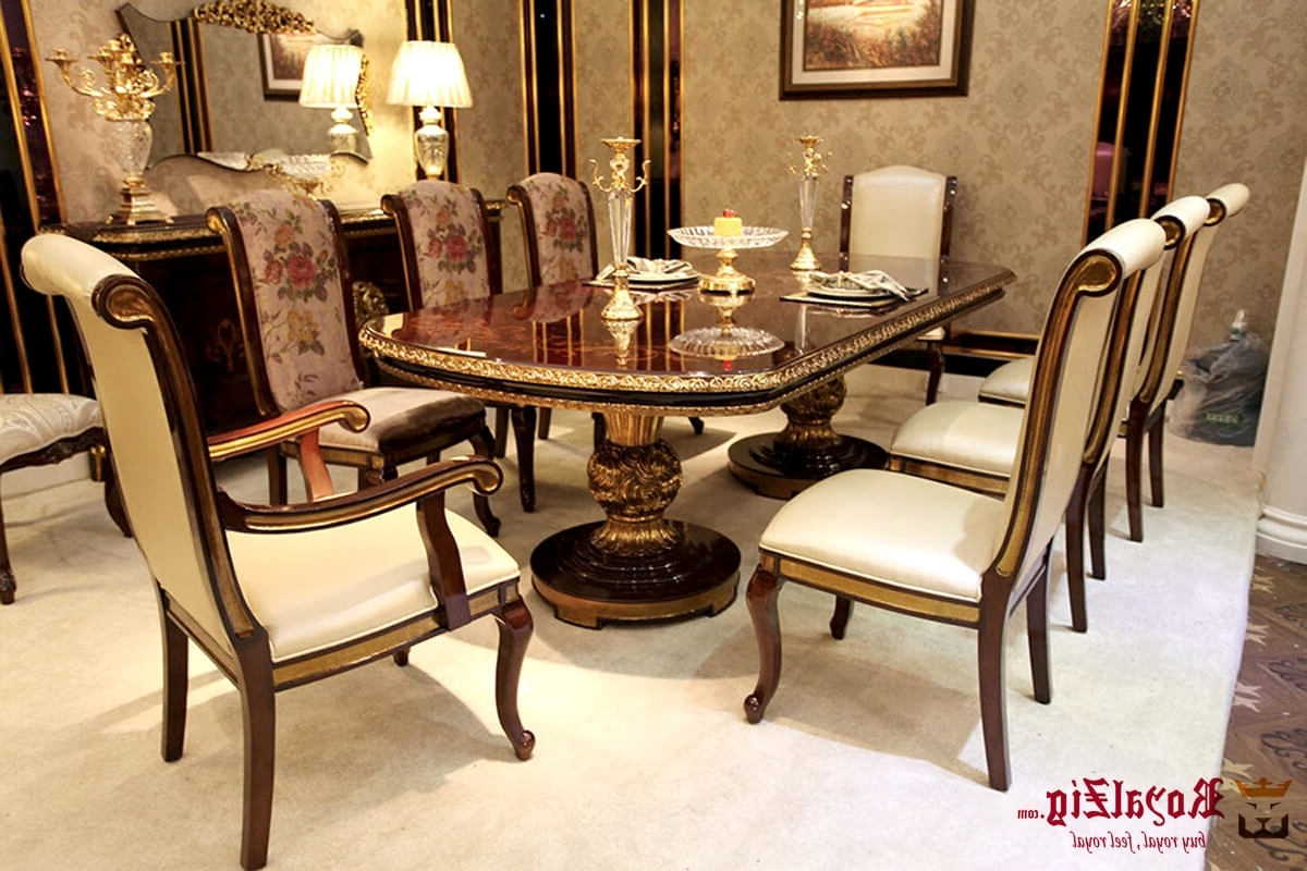 Most Recently Released Royal Antique Kitchen Table And Chairs With Regard To Royal Dining Tables (View 16 of 25)