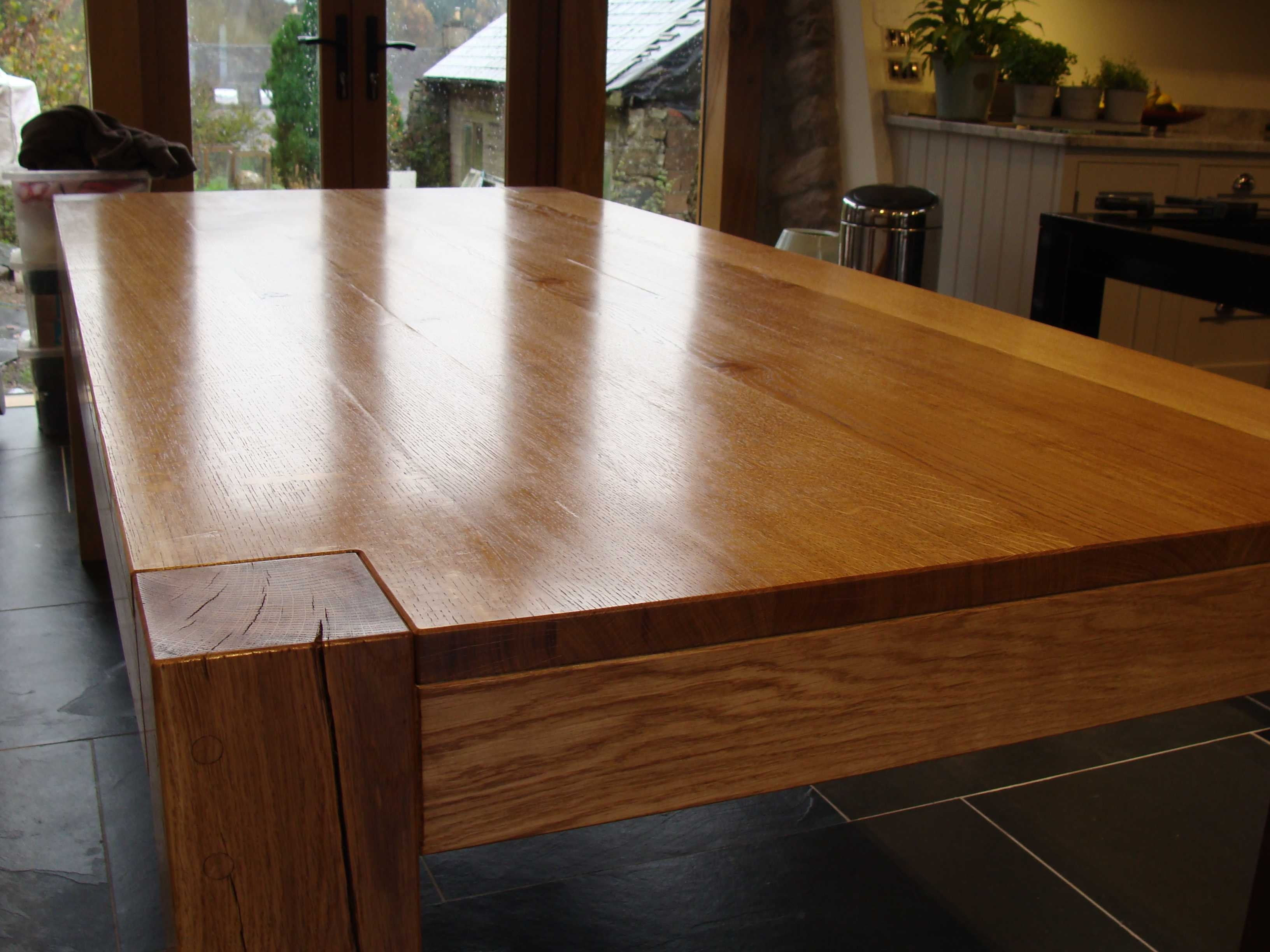 Most Recently Released Rustic Oak Dining Tables With Chunky Oak Dining Table (View 10 of 25)