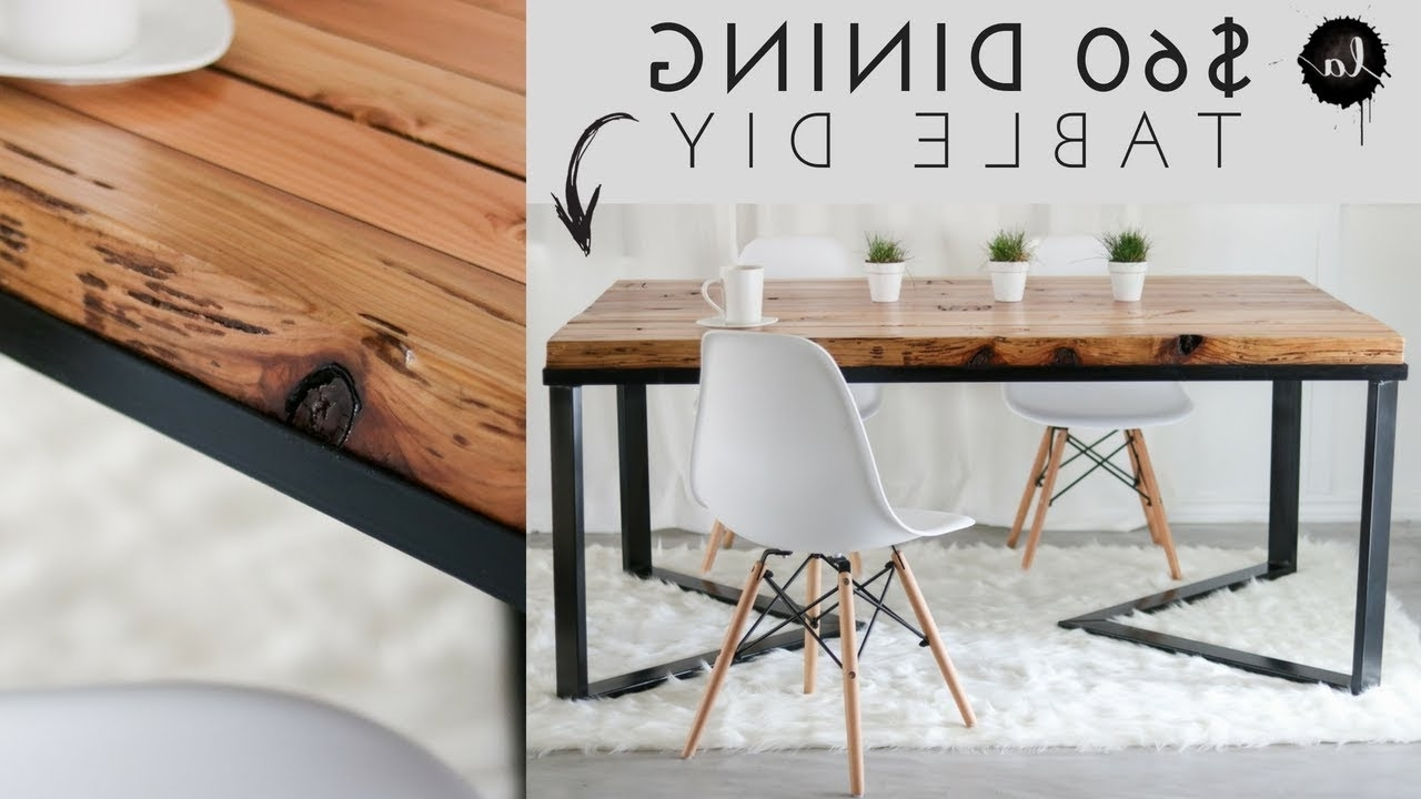 Most Recently Released Scandinavian Dining Tables And Chairs With Regard To Diy Scandinavian Dining Table (View 9 of 25)