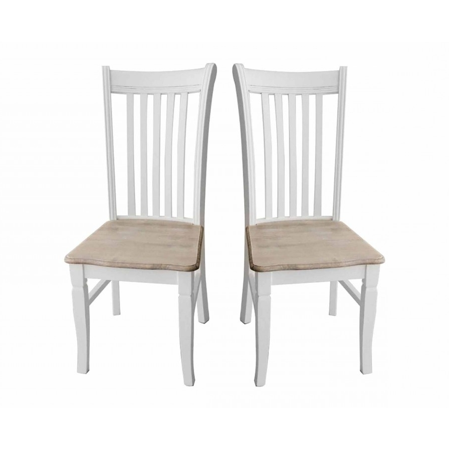 Most Recently Released Shabby Chic Dining Chairs Intended For Charles Bentley Shabby Chic Dining Chairs Set Of 2 – Charles Bentley (View 14 of 25)