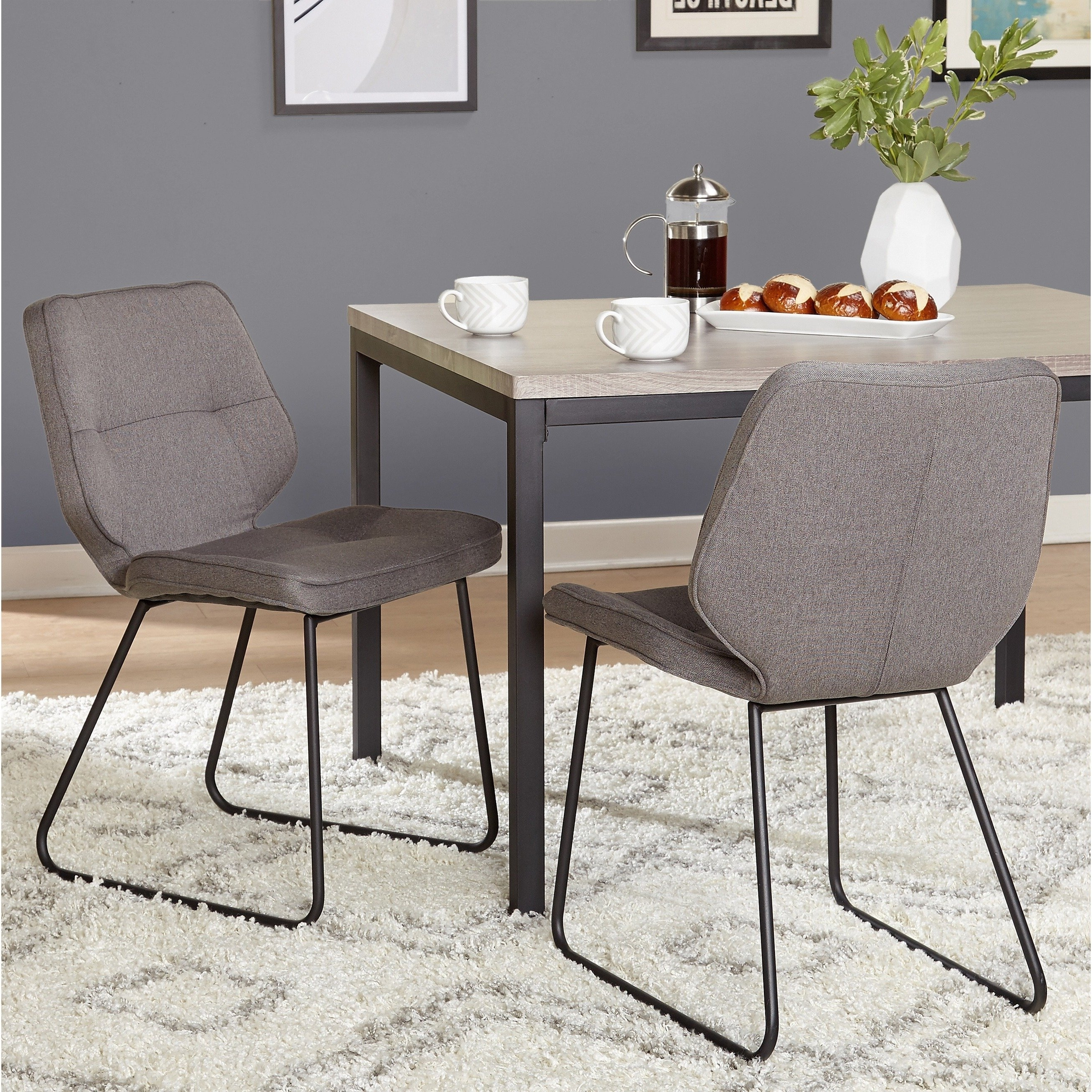 Most Recently Released Shop Simple Living Kaden Chair (Set Of 2) – Free Shipping Today Inside Caden 7 Piece Dining Sets With Upholstered Side Chair (View 11 of 25)
