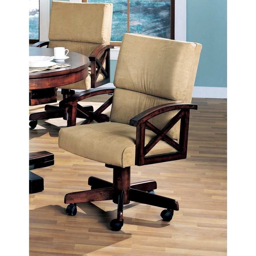 Most Recently Released Snug Upholstered Arm Game Chair , Brown In  (View 13 of 25)