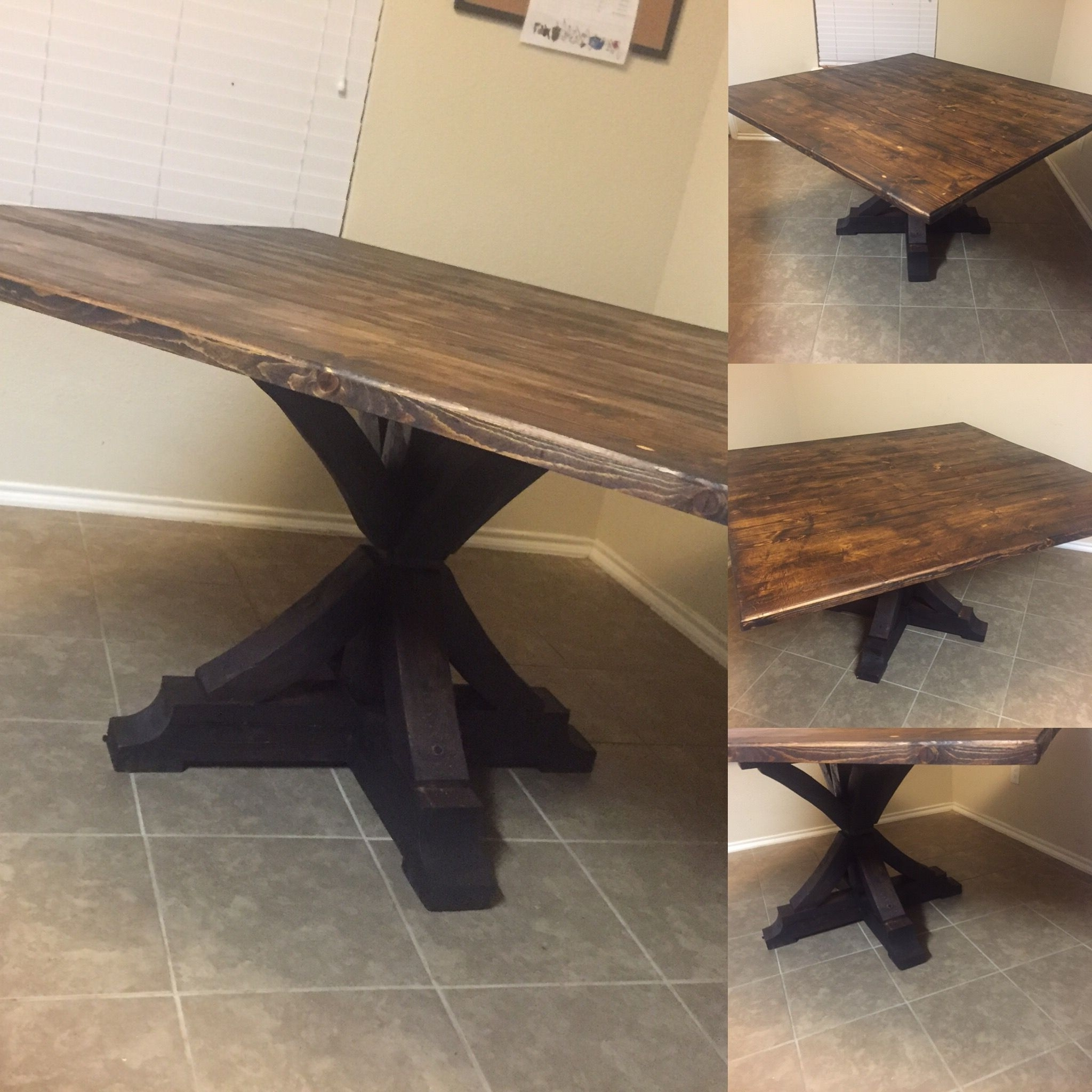 Most Recently Released Square Dining Tables Inside Custom Rustic Square Dining Tabledallas Rustic (View 14 of 25)