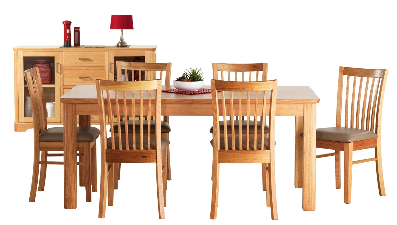Most Recently Released Torquay 7 Piece Dining Suite Inside Oak Dining Suite (Gallery 13 of 25)
