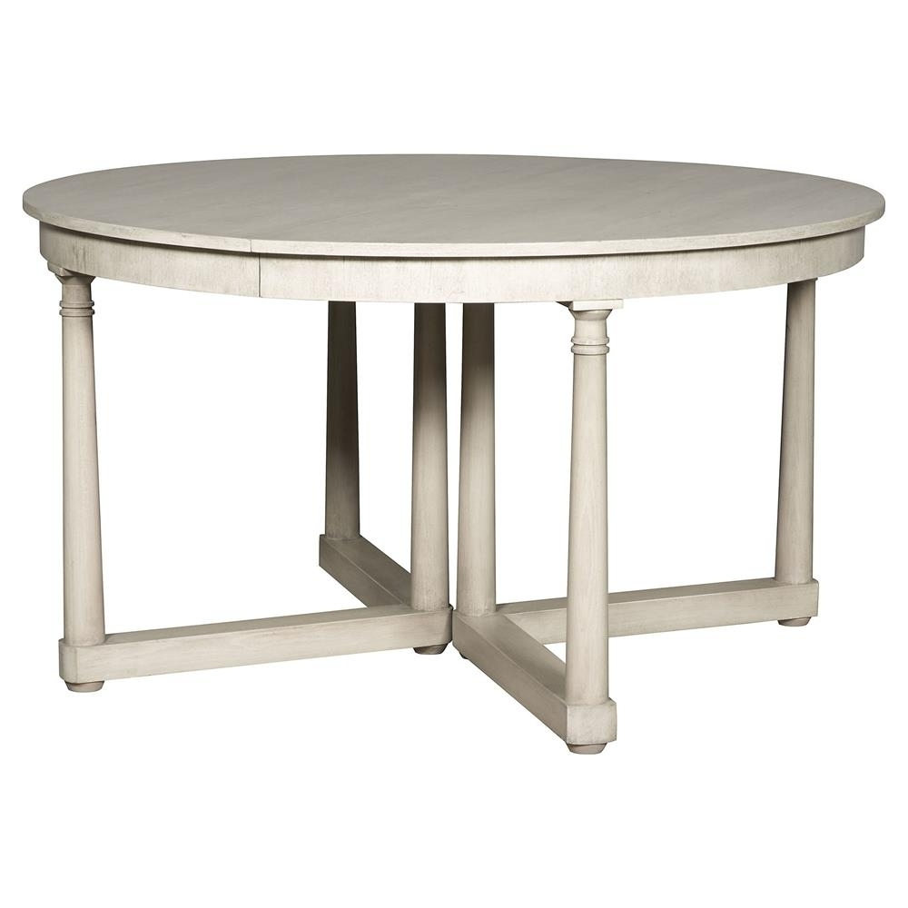 Most Recently Released Vanguard Callas Rustic White Extendable Round Dining Table (View 15 of 25)