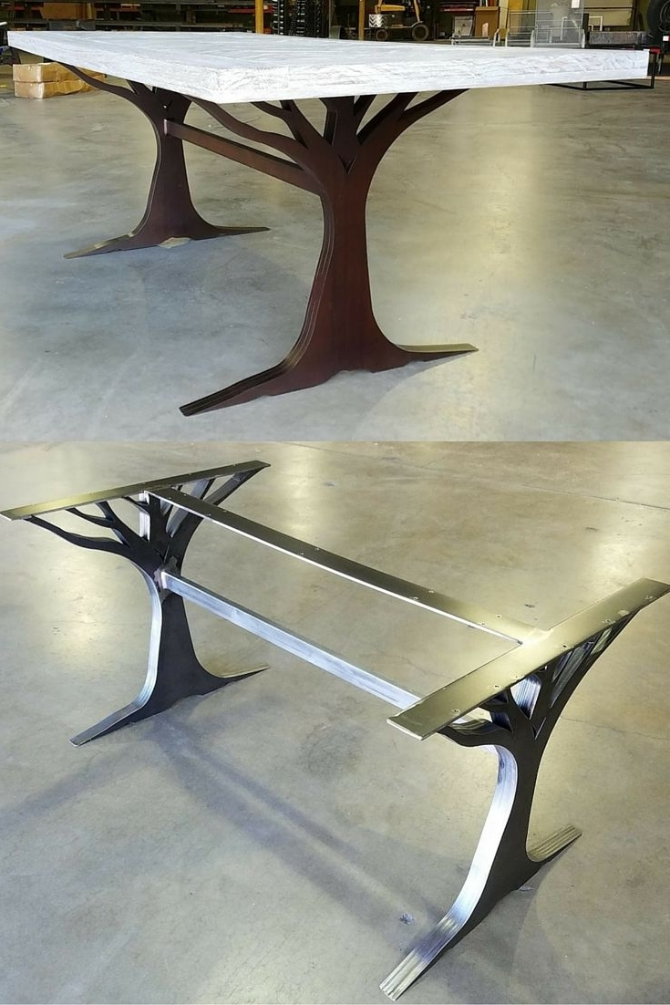 Most Recently Released What An Interesting Custom Table Leg Base. Made From Metal (View 15 of 25)