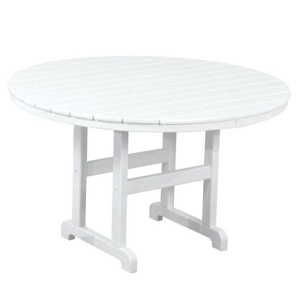 Most Recently Released White Circle Dining Tables Within Polywood La Casa Cafe 48 In (View 11 of 25)