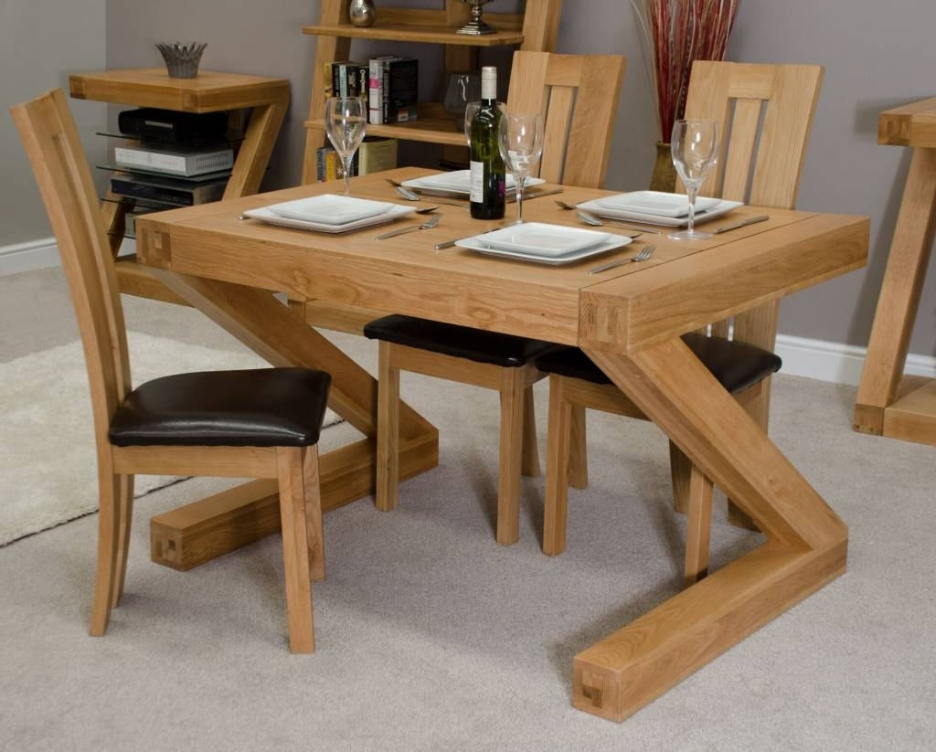 Most Recently Released Z Designer Solid Oak Small Dining Table – Freitaslaf Net Ltd Pertaining To Small Oak Dining Tables (View 14 of 25)