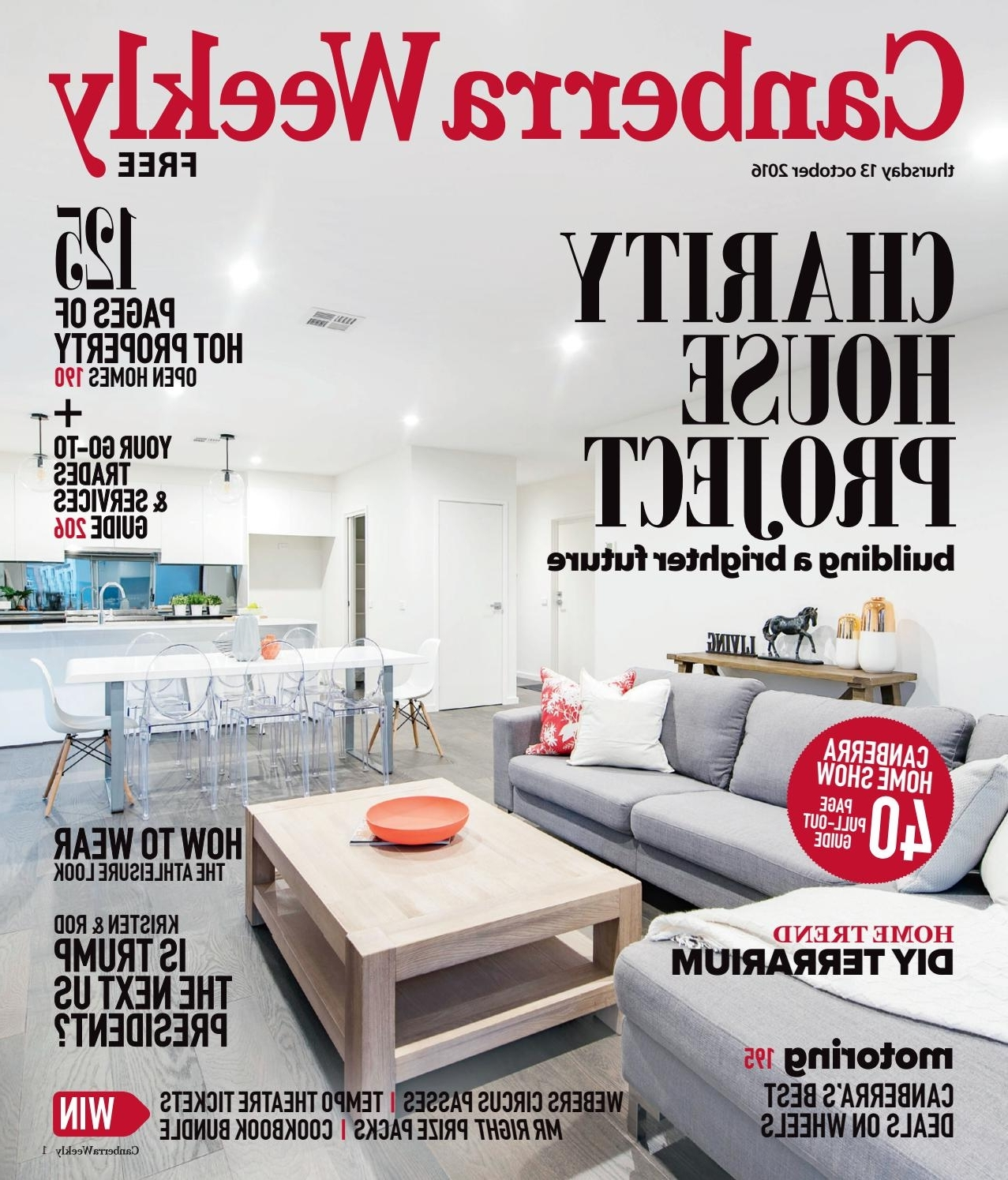 Most Up To Date 13 October 2016Canberra Weekly Magazine – Issuu With Bale Rustic Grey 7 Piece Dining Sets With Pearson White Side Chairs (Gallery 22 of 25)
