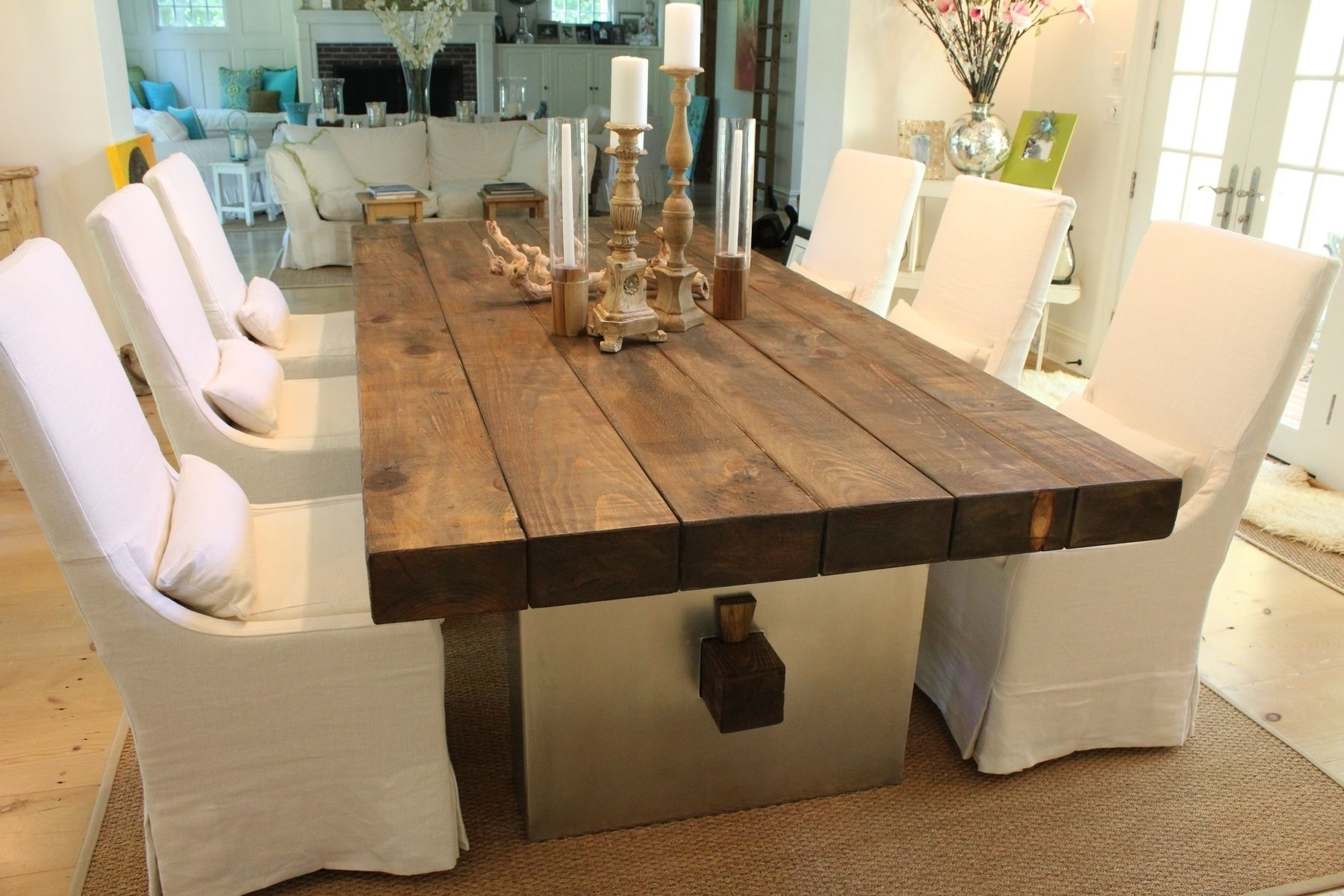 Most Up To Date Balinese Dining Tables Intended For Custom Barn Wood Dining Tablej (View 14 of 25)