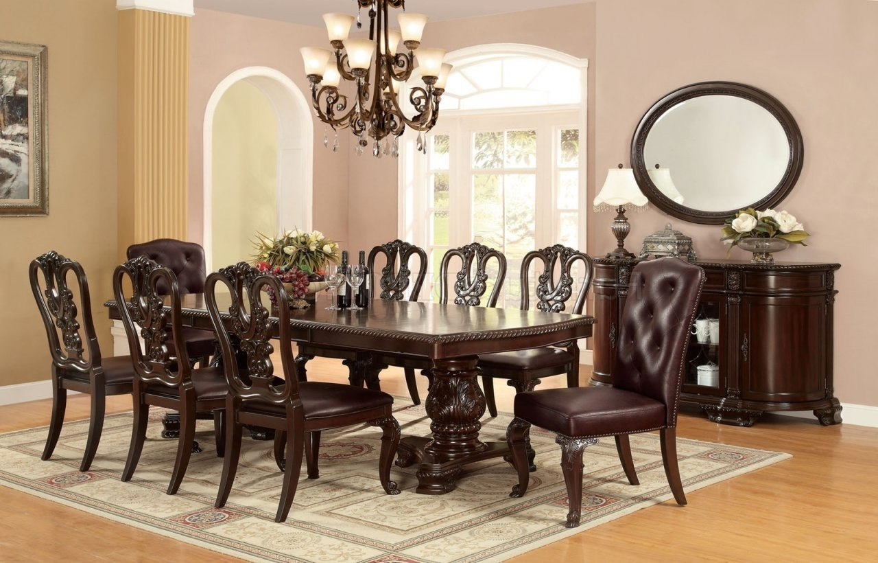Most Up To Date Bellagio Dining Tables With Regard To Cm3319T Bellagio Dining Table In Brown Cherry W/options (View 15 of 25)