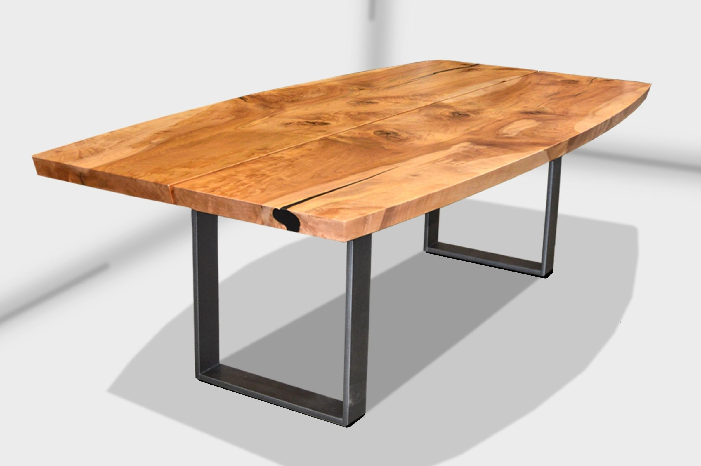 Most Up To Date Beveled Edge Blackcomb Slab Wood Dining Tablelive Edge Design Throughout Tree Dining Tables (View 11 of 25)