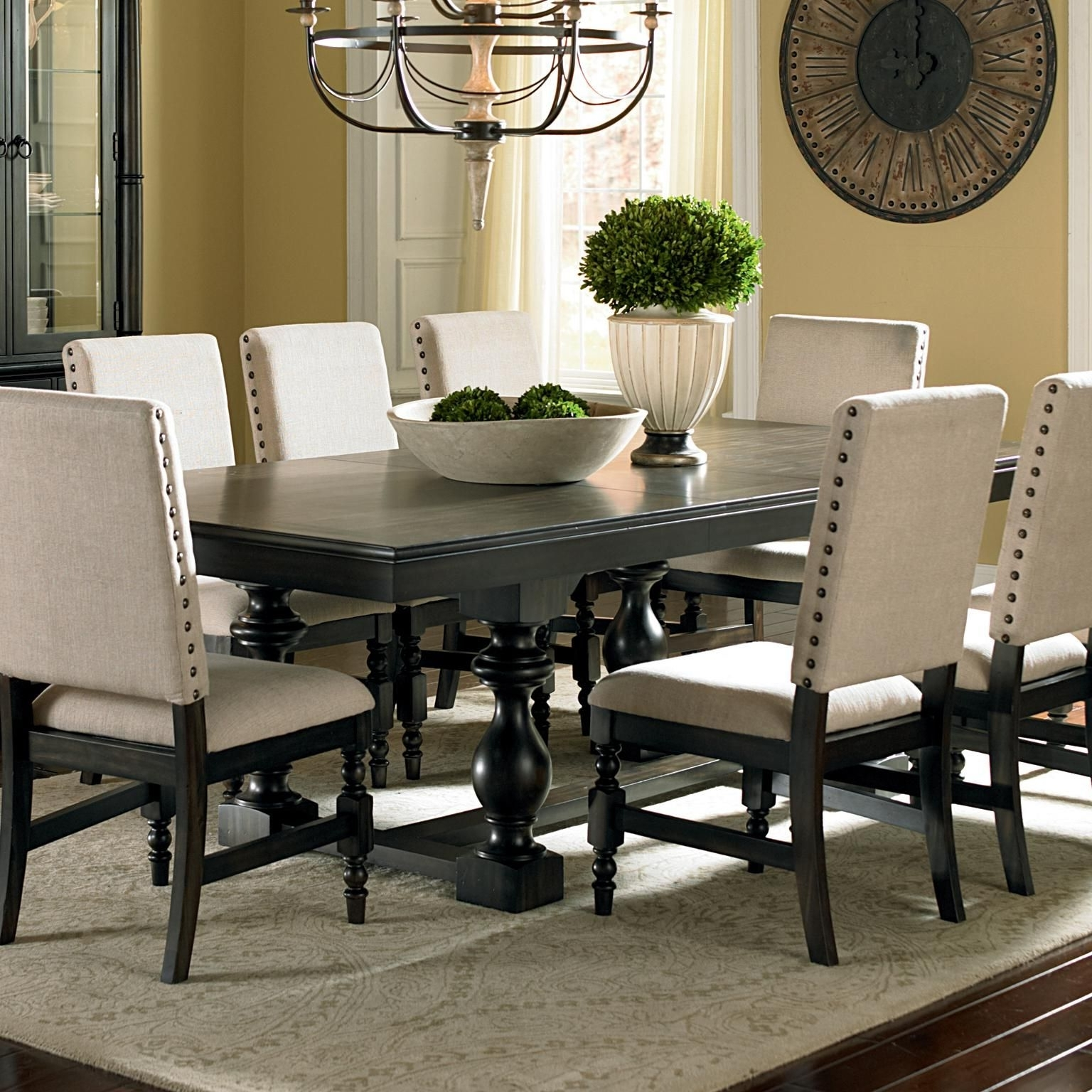 Most Up To Date Black Dining Tables Regarding Steve Silver Leona Cottage Rectangular Antique Black Dining Table (Gallery 8 of 25)