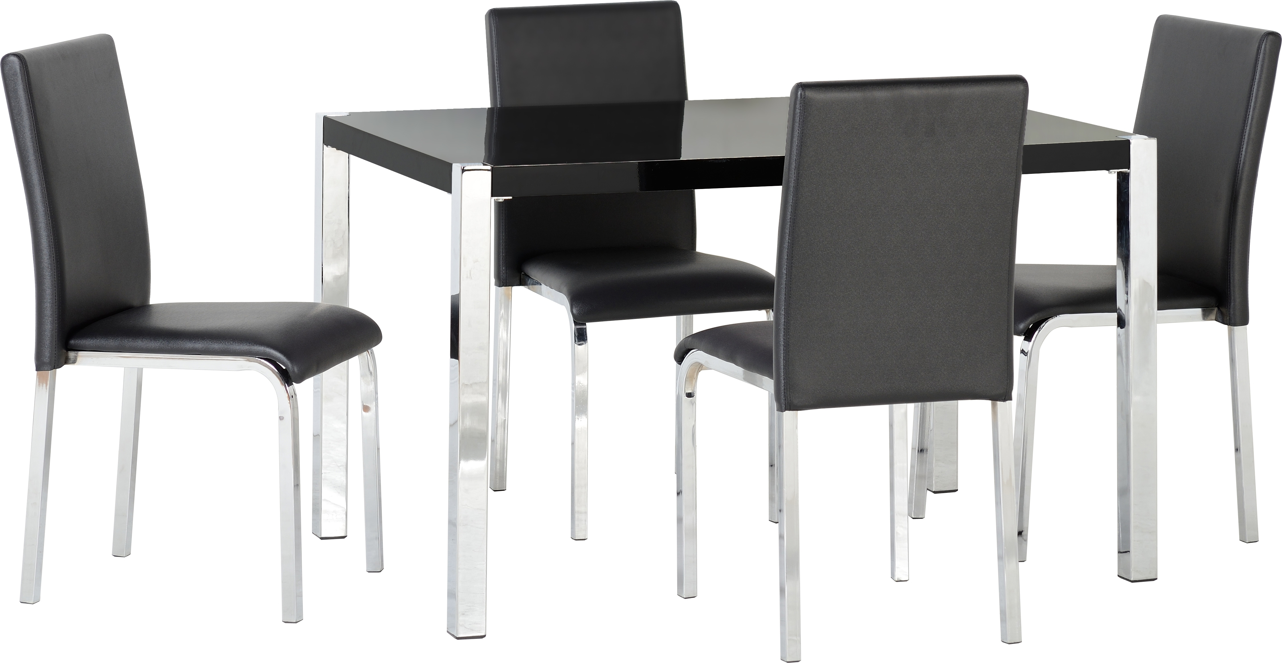 Most Up To Date Black Gloss Dining Sets In London Charisma Dining Set In Black Gloss Dining Table & 4 Chairs (Gallery 15 of 25)