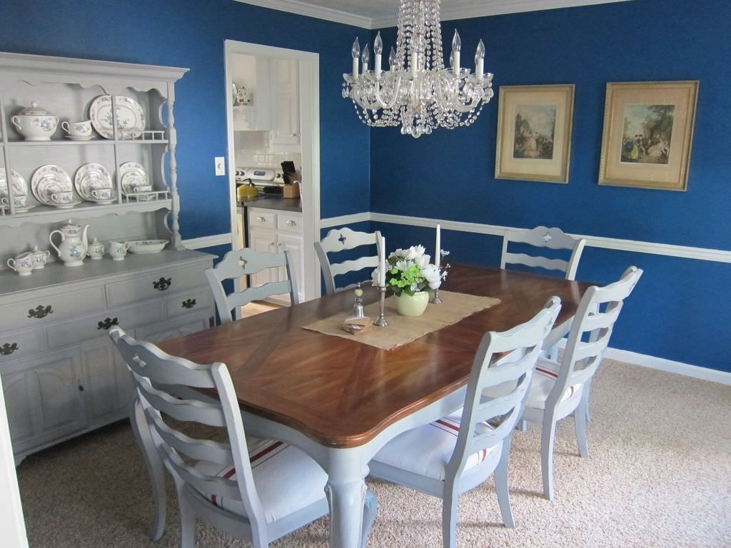 Most Up To Date Blue Dining Tables Throughout 20 Blue Dining Room Ideas For (View 23 of 25)