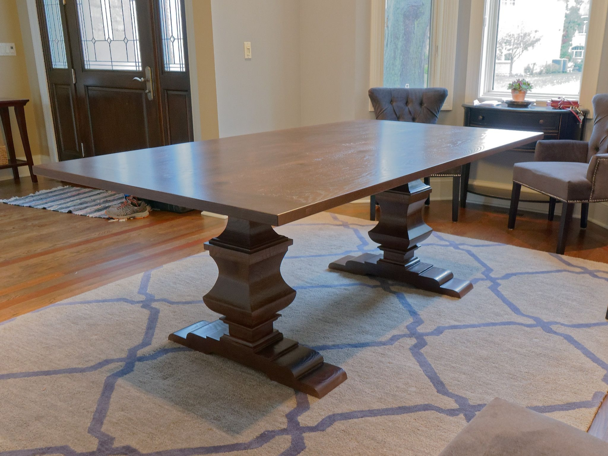 Most Up To Date Cambridge Dining Tables Intended For Massive Pedestals Help Define The Cambridge Dining Table (View 21 of 25)