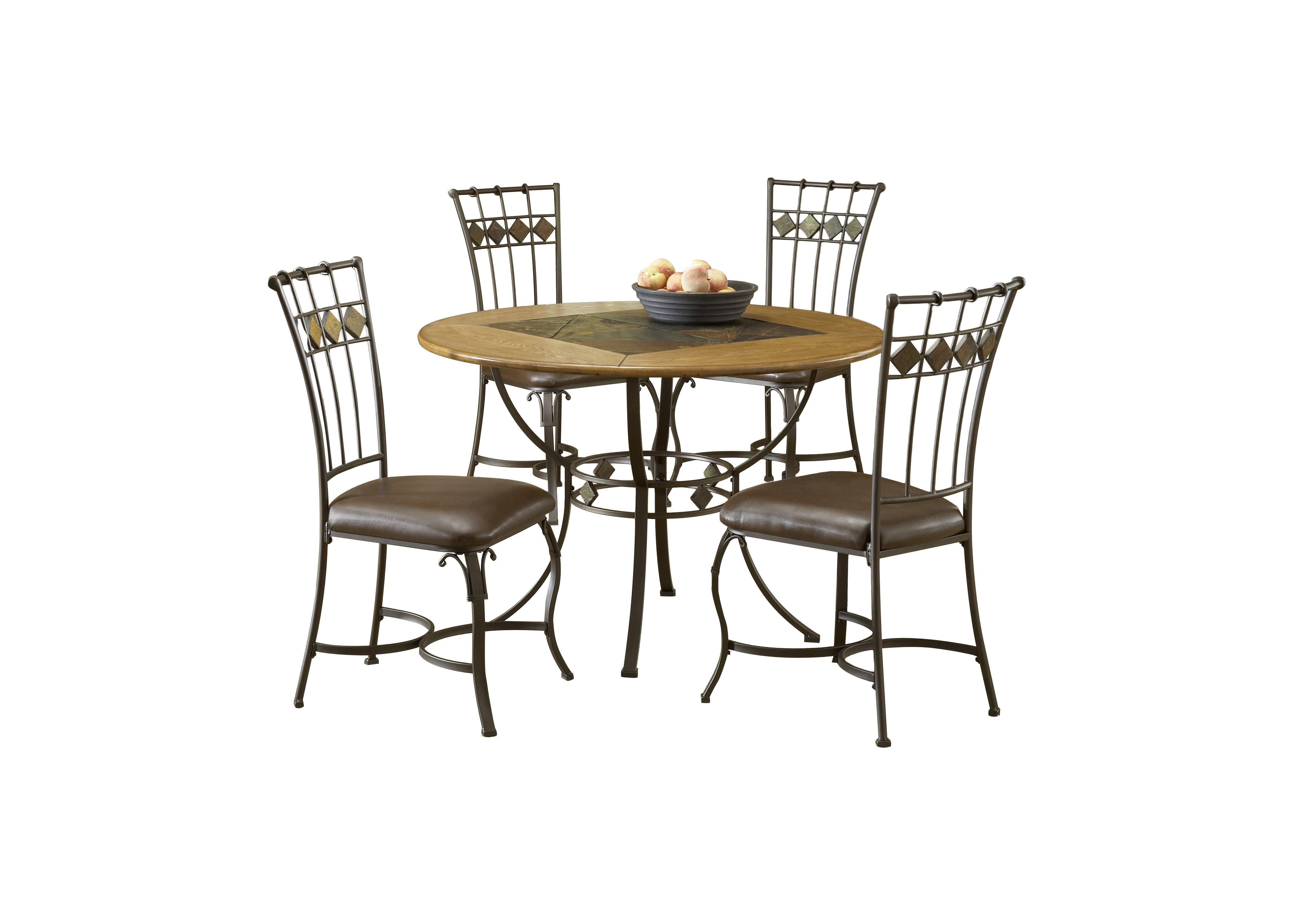 Most Up To Date Candice Ii 5 Piece Round Dining Sets With Slat Back Side Chairs Within Red Barrel Studio Boyers 5 Piece Dining Set & Reviews (View 5 of 25)