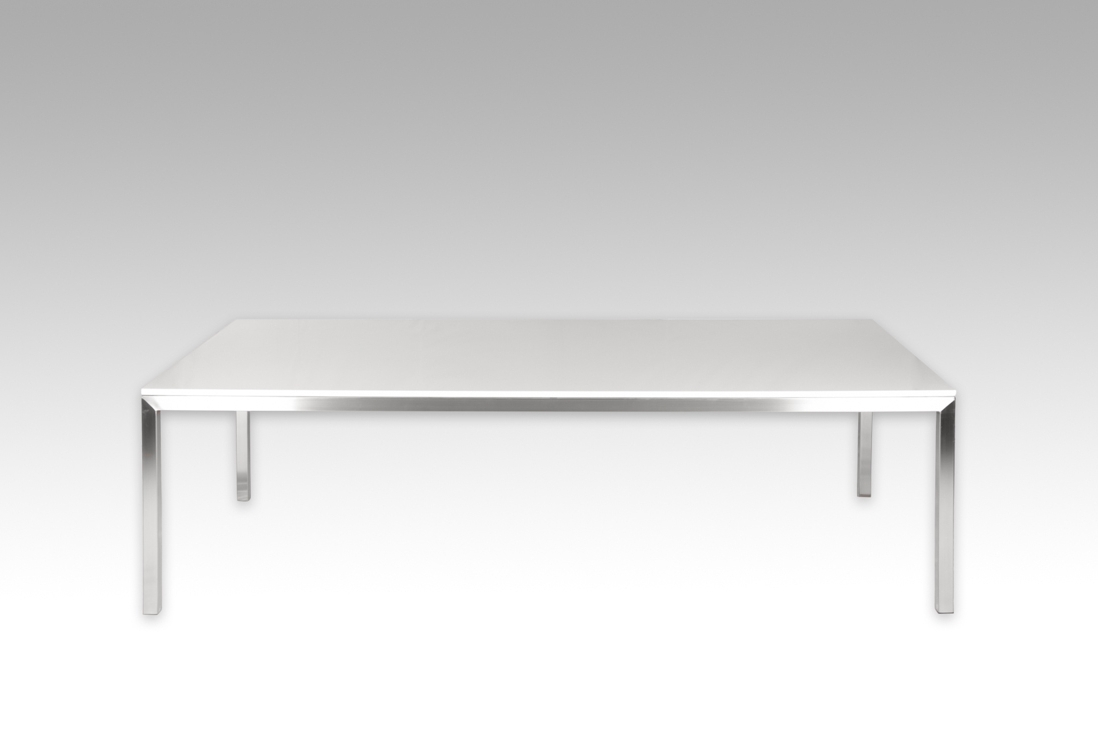 Most Up To Date Claremont Dining Table, Stone Top With Stainless Steel Frame Throughout Perth Glass Dining Tables (View 8 of 25)