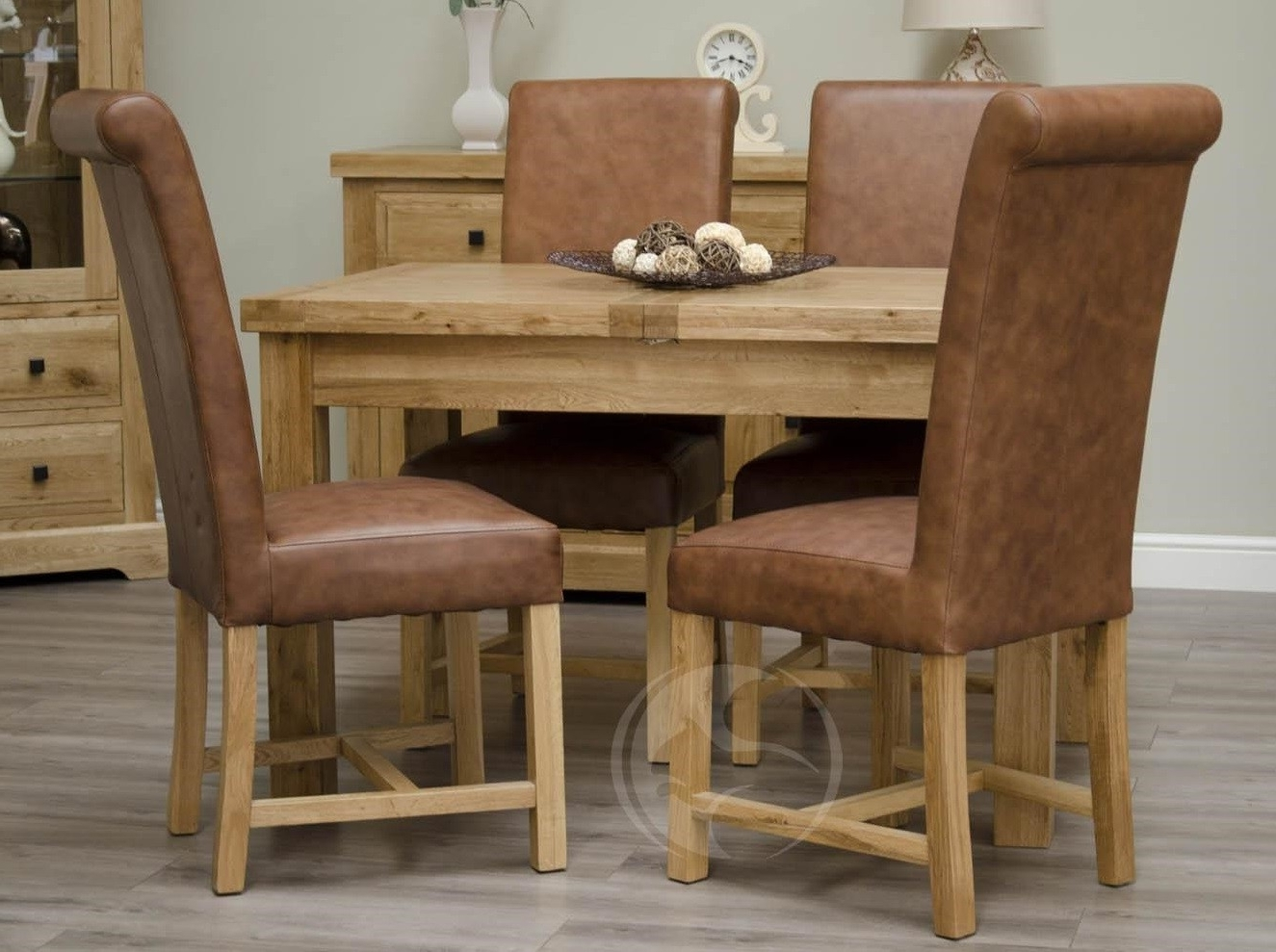 Most Up To Date Coniston Rustic Solid Oak Small Extending Dining Table, Extended With Small Extendable Dining Table Sets (View 12 of 25)