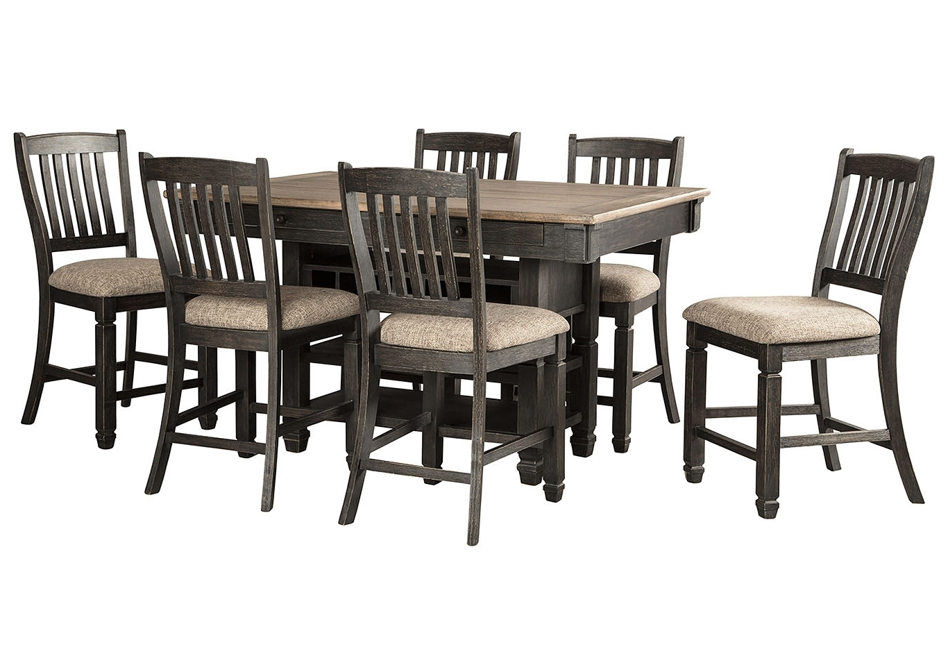 Most Up To Date Craftsman 7 Piece Rectangle Extension Dining Sets With Side Chairs In Today's Furniture Design – Philadelphia, Pa Tyler Creek Black (View 19 of 25)