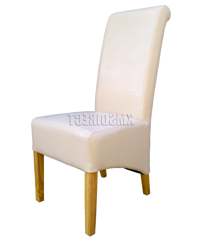 Most Up To Date Cream Leather Dining Room Chairs Amazing Dining Room Lovely Modern For High Back Leather Dining Chairs (View 24 of 25)