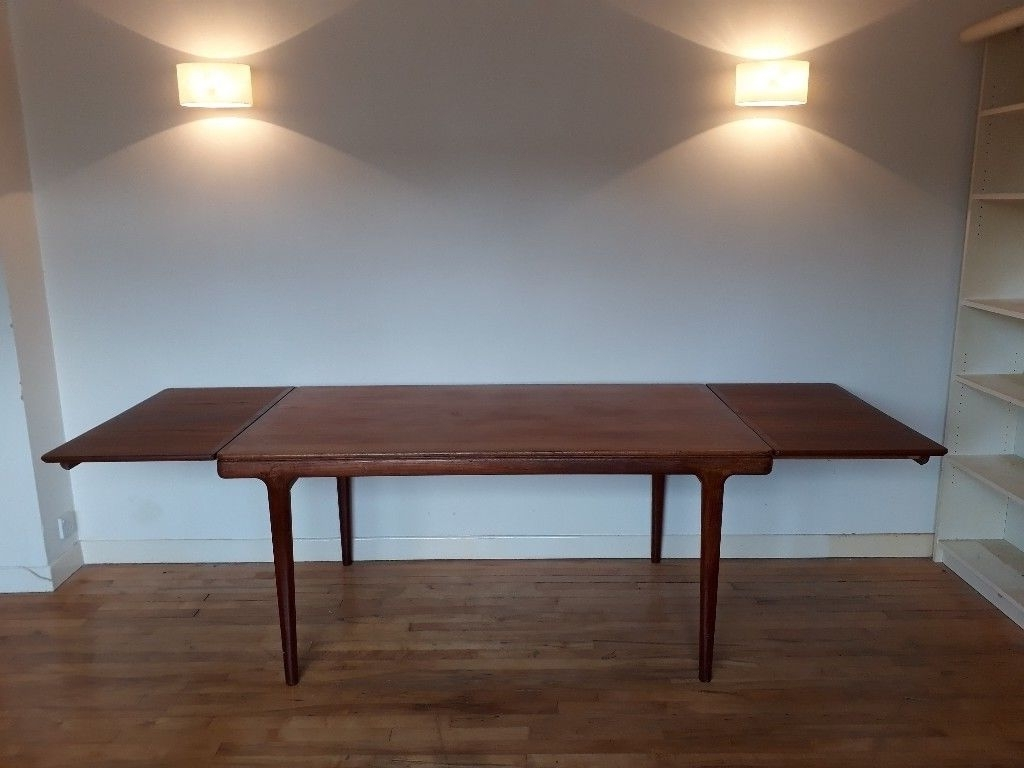 Most Up To Date Danish Style Teak Dining Table And 4 Chairs (View 17 of 25)