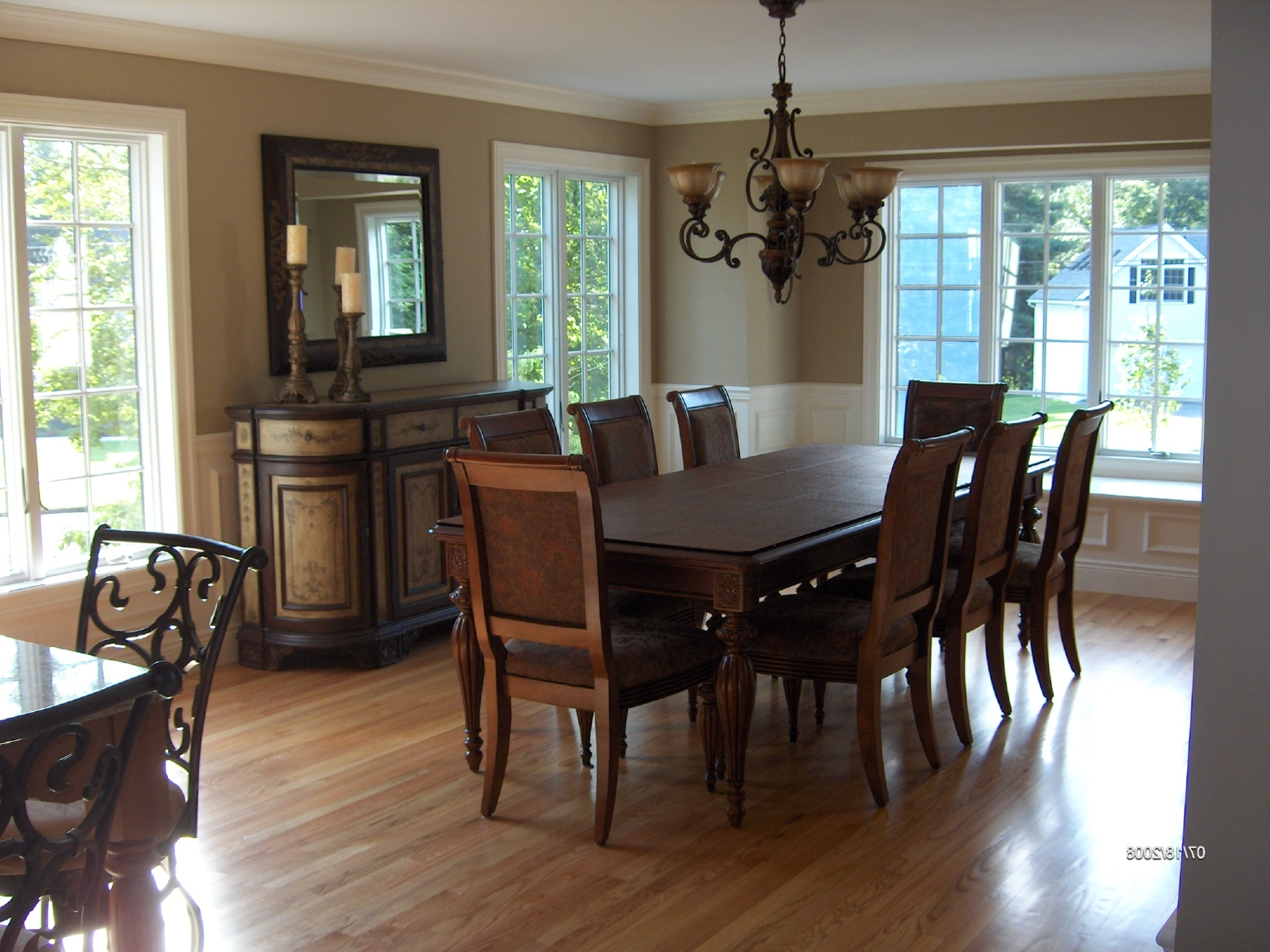 Most Up To Date Dark Wood Dining Room Furniture Intended For Dining Room. Contemporary Dining Room Design With Dining Room (Gallery 25 of 25)