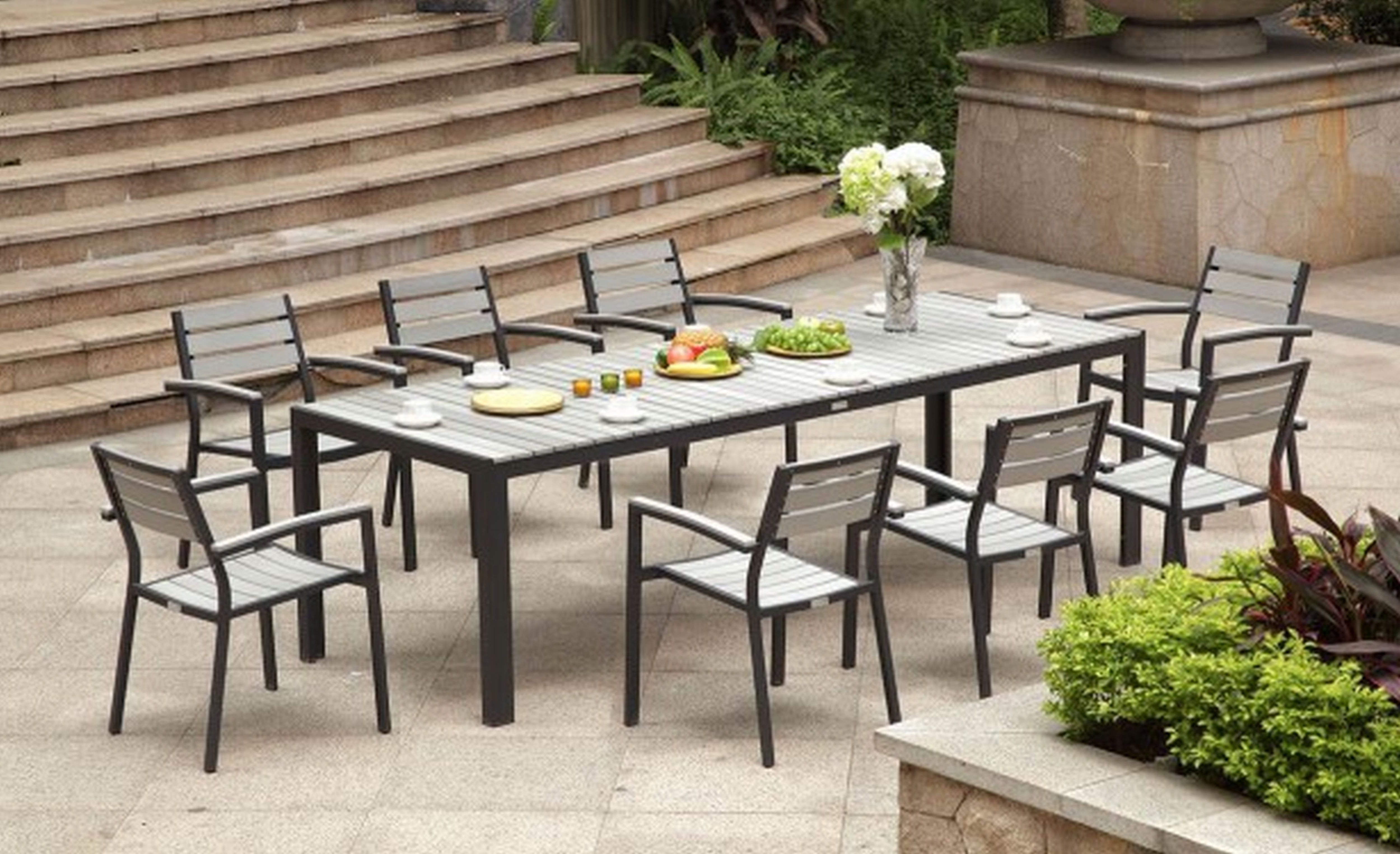Most Up To Date Dining Room Garden Furniture Dining Sets Round Garden Dining Table Throughout Outdoor Dining Table And Chairs Sets (View 11 of 25)