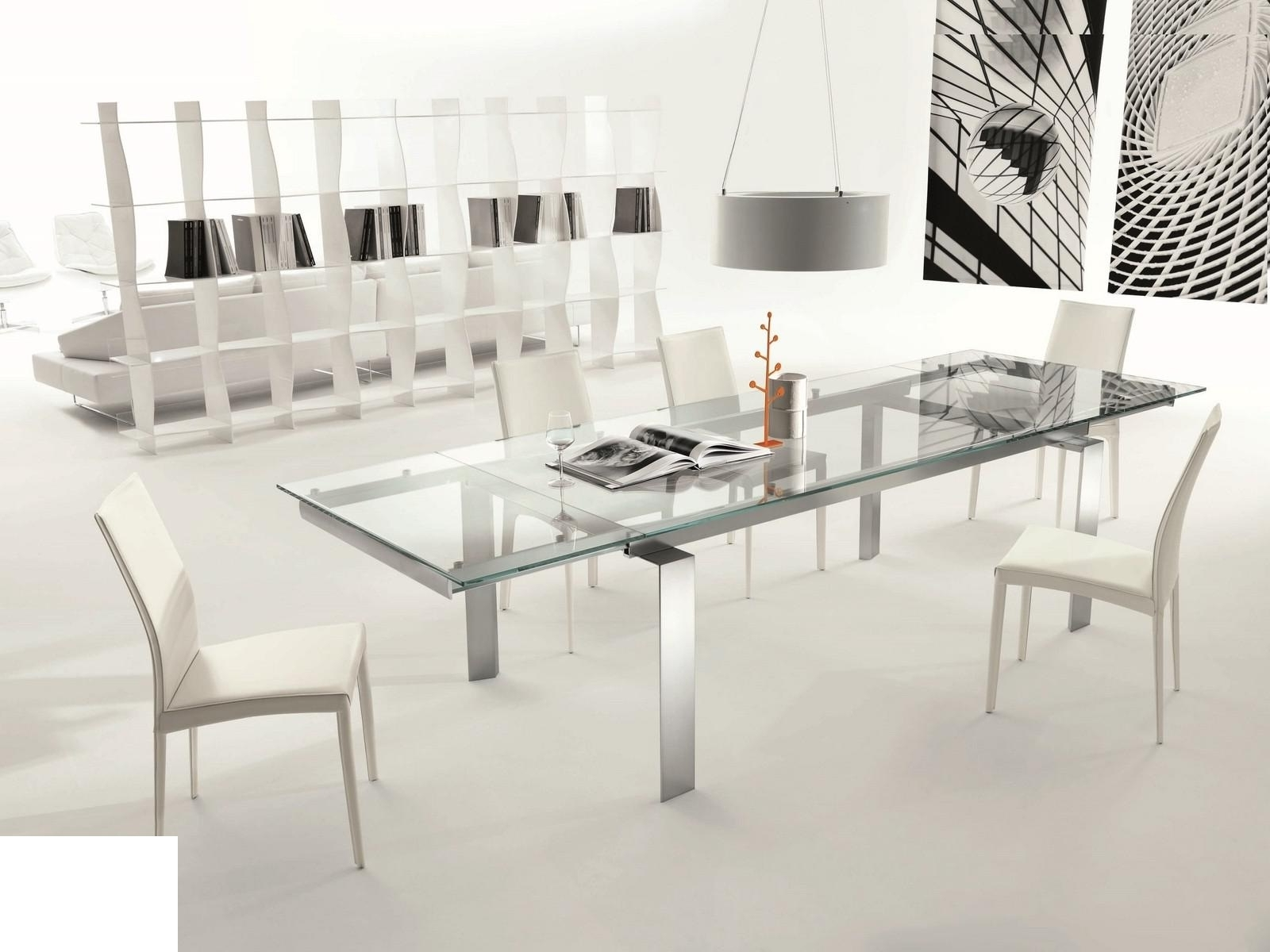 Most Up To Date Glass Extendable Dining Tables And 6 Chairs Regarding Chair: Extendable Glass Dining Table And 6 Chairs (Gallery 14 of 25)