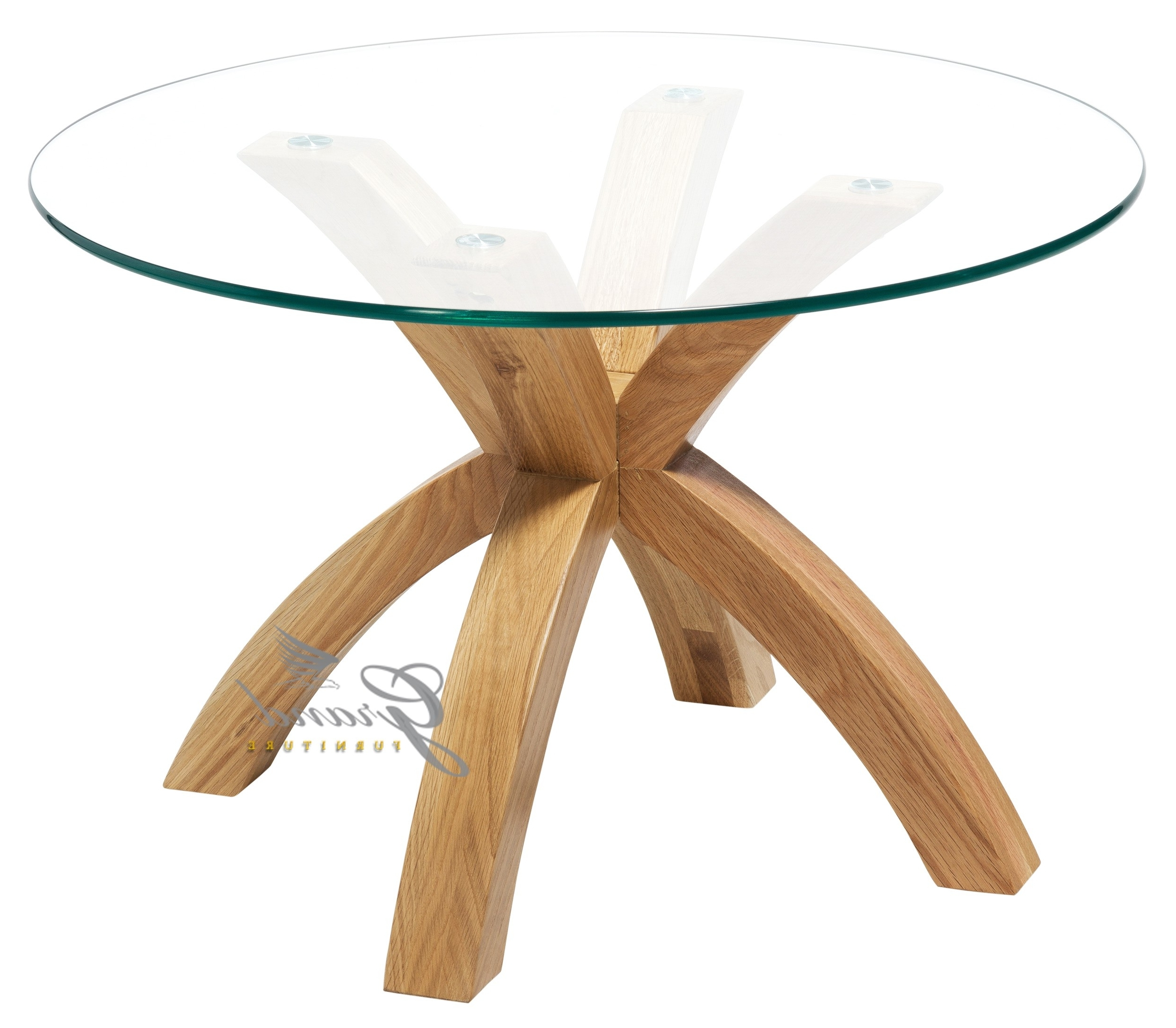 Most Up To Date Glass Top Oak Dining Tables With Regard To Solid Oak Glass Coffee Table – Grand Furniture (View 18 of 25)