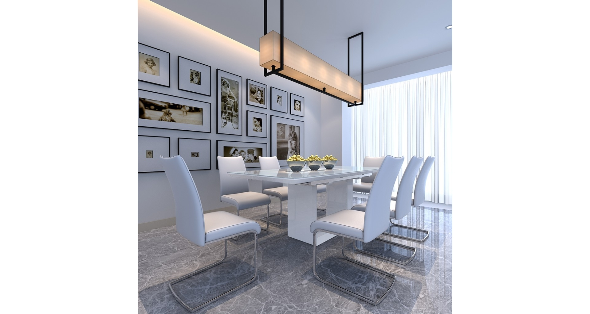Most Up To Date High Gloss Round Dining Tables Inside Soho – Extending Dining Table – White High Gloss (View 19 of 25)