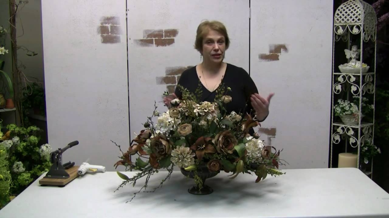 Most Up To Date How To Make A Traditional Floral Centerpiece Arrangement With Silk Throughout Artificial Floral Arrangements For Dining Tables (View 16 of 25)
