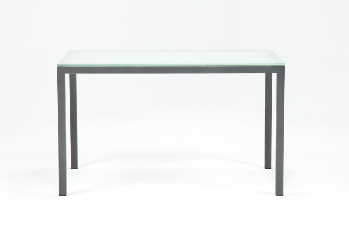 Most Up To Date Ina Pewter 60 Inch Counter Table W/frosted Glass (View 18 of 25)