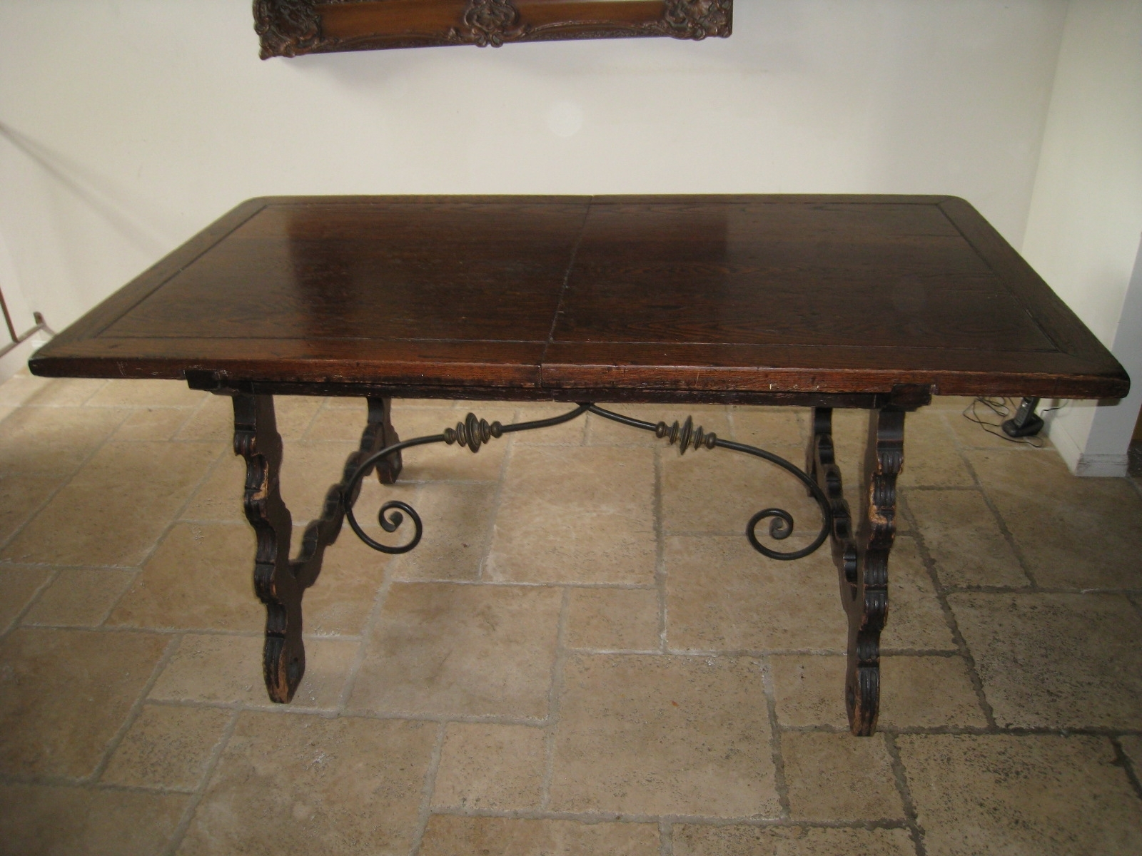 Most Up To Date Iron And Wood Dining Tables With Exquisite 1920's Dining Table With 6 Chairs « Fantastic Liquidation (View 17 of 25)