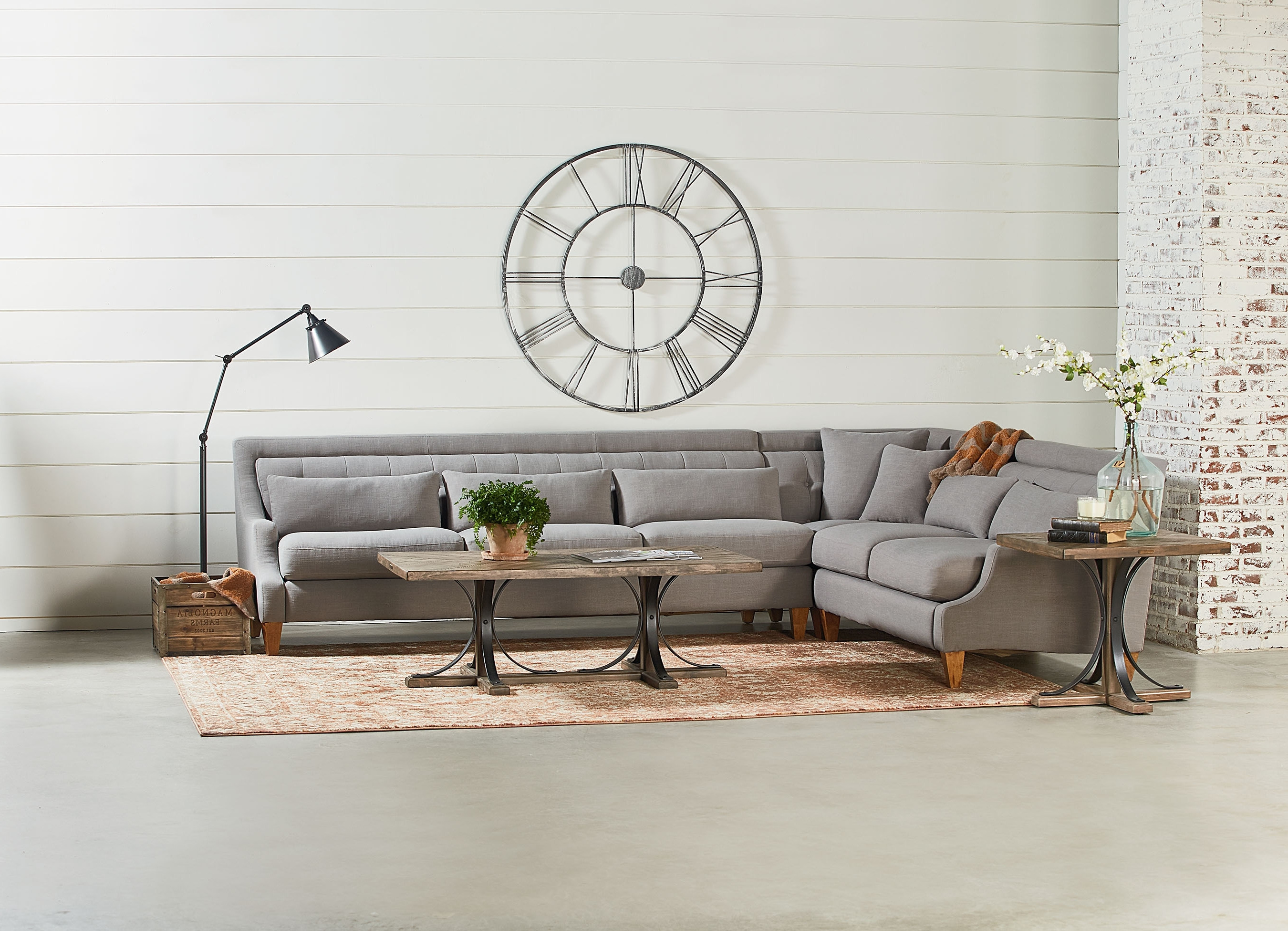 Most Up To Date Iron Trestle Coffee Table – Magnolia Home For Magnolia Home Shop Floor Dining Tables With Iron Trestle (View 19 of 25)