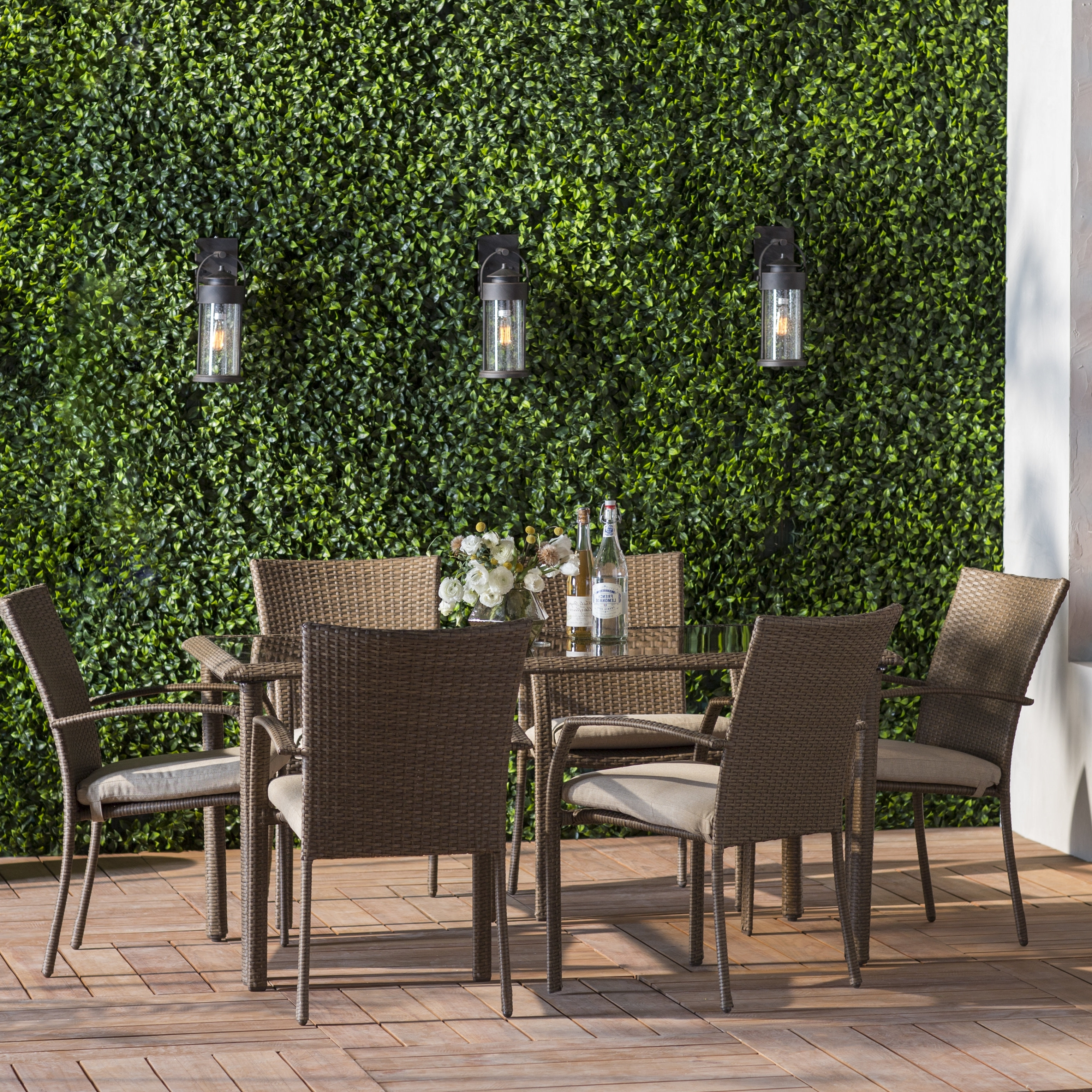 Most Up To Date Kirsten 6 Piece Dining Sets Regarding Highland Dunes Edwards 7 Piece Dining Set With Cushion & Reviews (View 16 of 25)