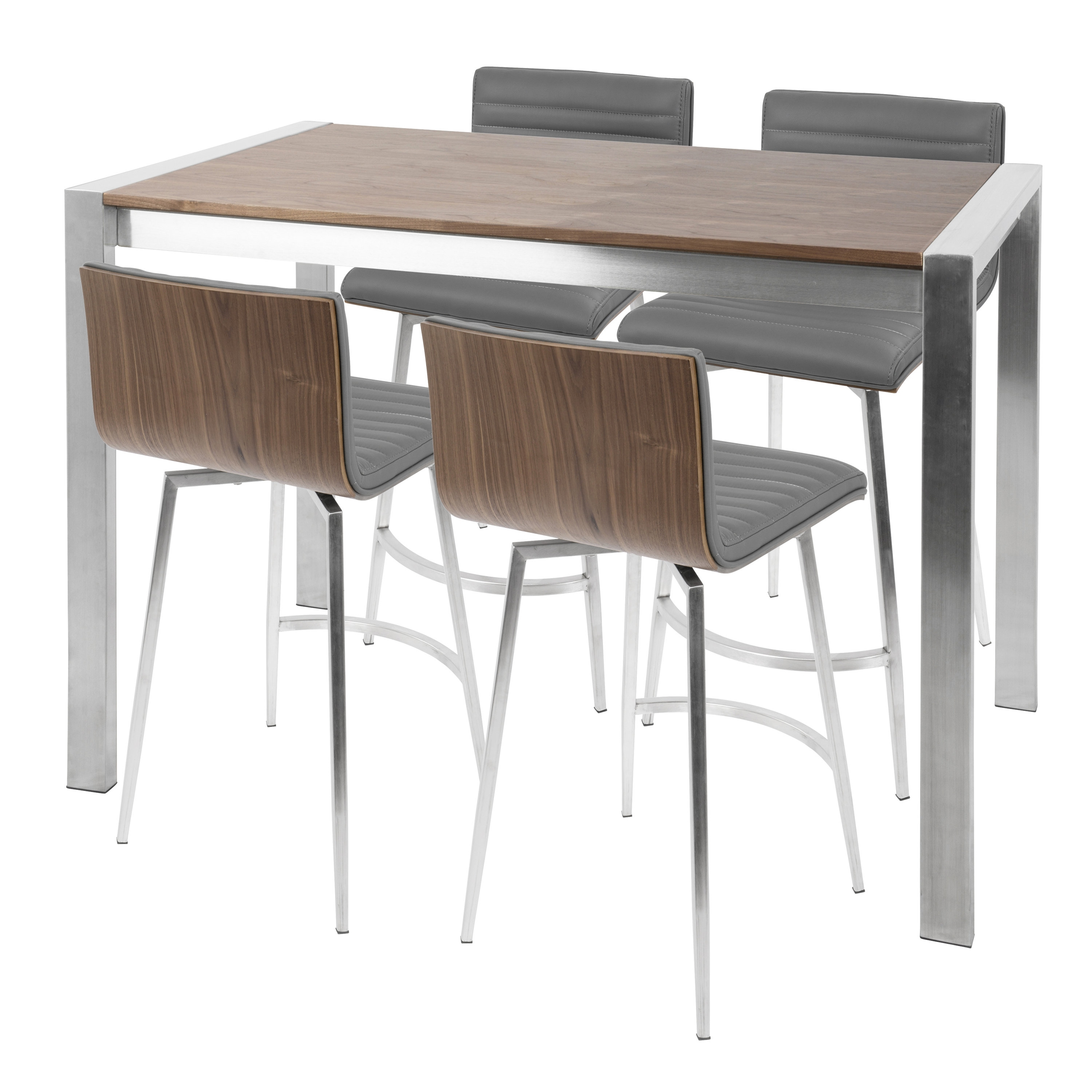 Most Up To Date Laurent 7 Piece Counter Sets With Wood Counterstools With Regard To Wade Logan Jacque 5 Piece Counter Height Dining Set (View 24 of 25)