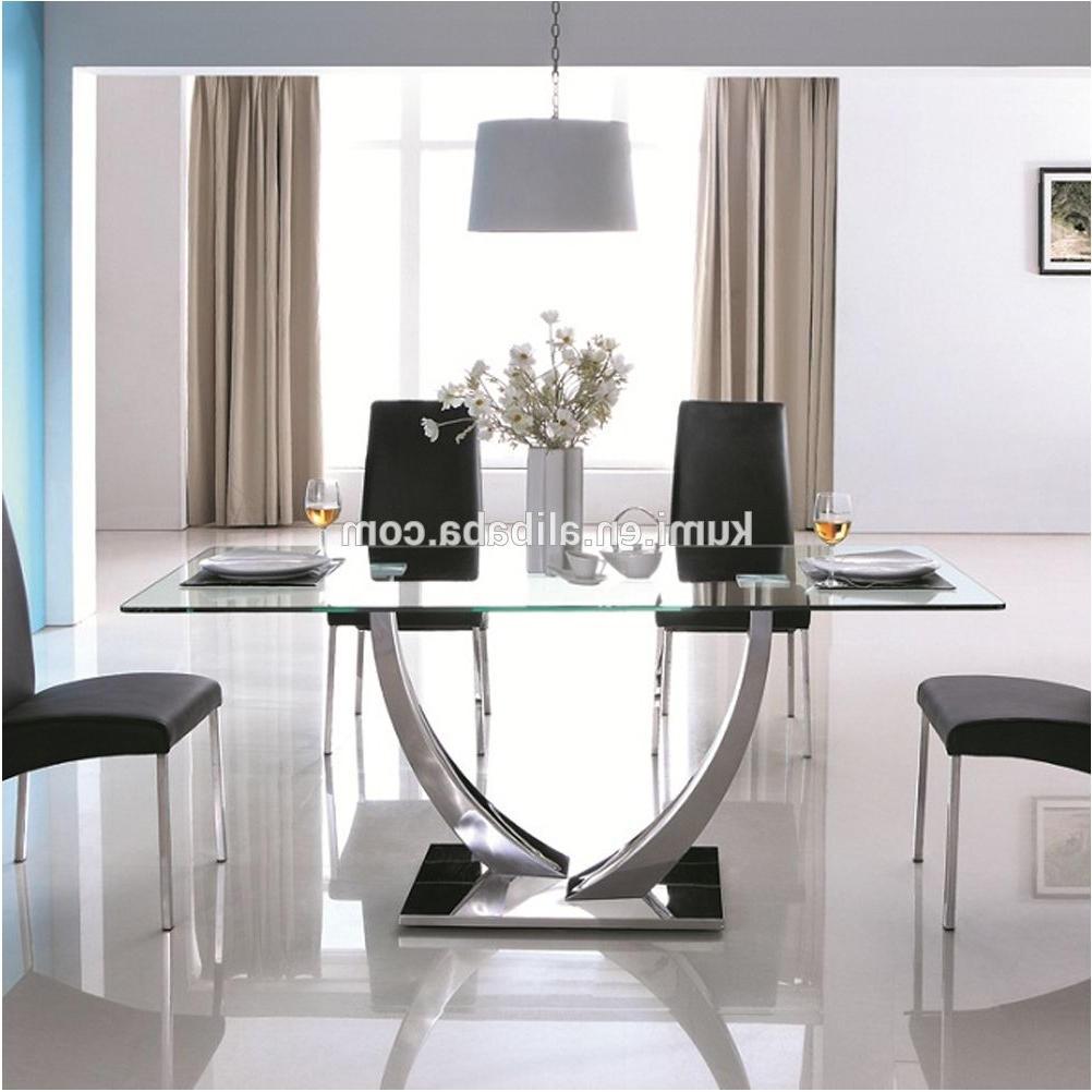 Most Up To Date Magnificent Tempered Glass Dining Table Buy Modern Dining Tables Intended For Glass Dining Tables (View 18 of 25)